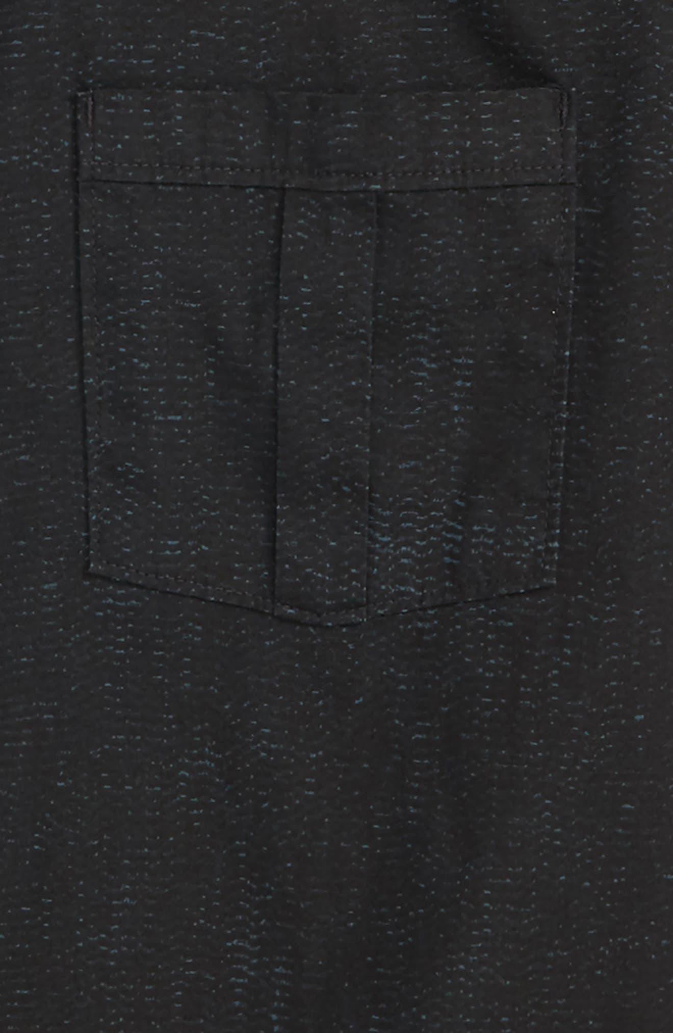 Untitled Woven Shirt,                             Alternate thumbnail 2, color,                             Black