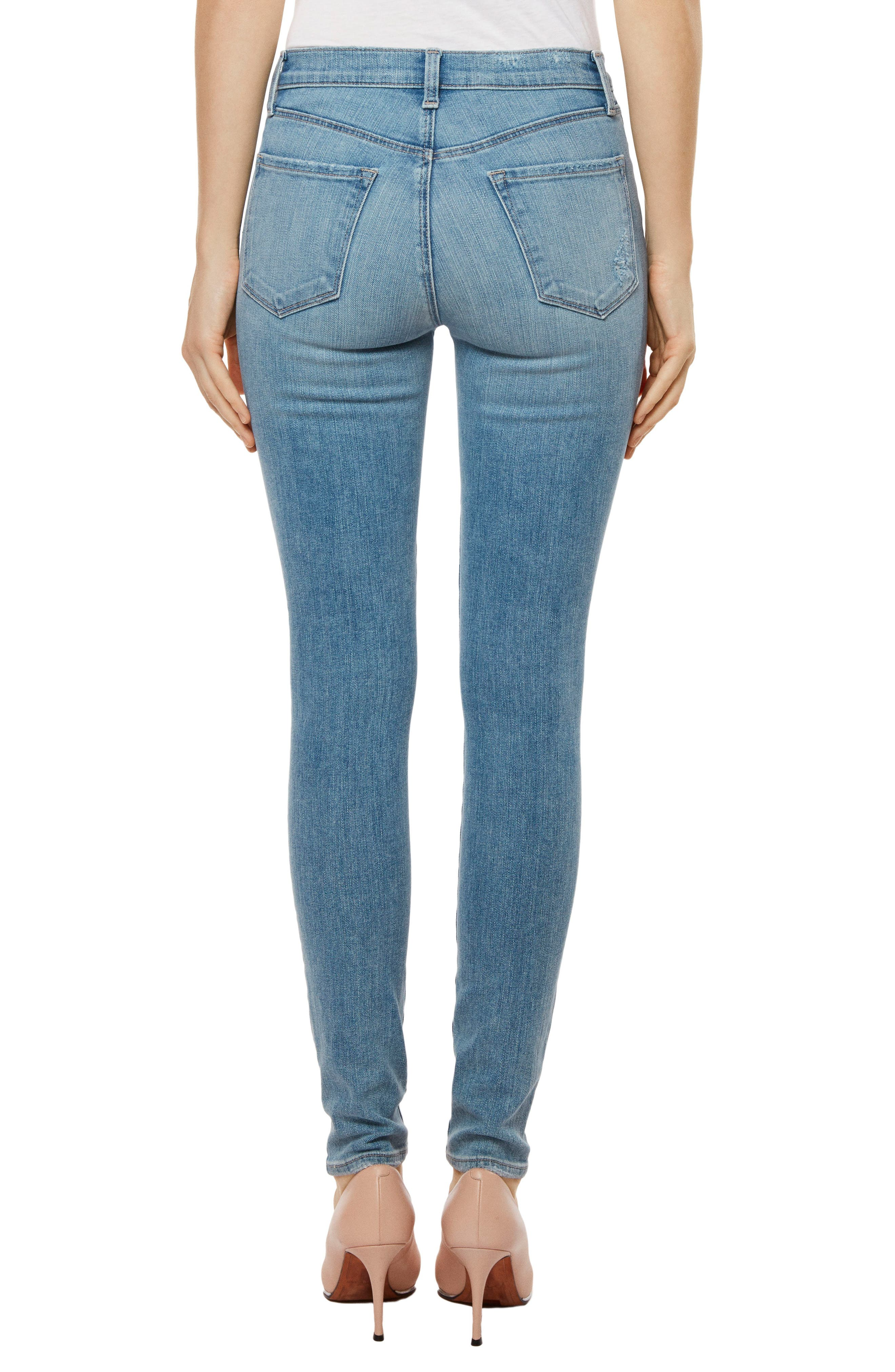 Maria High Waist Skinny Jeans,                             Alternate thumbnail 2, color,                             Surge Destruct