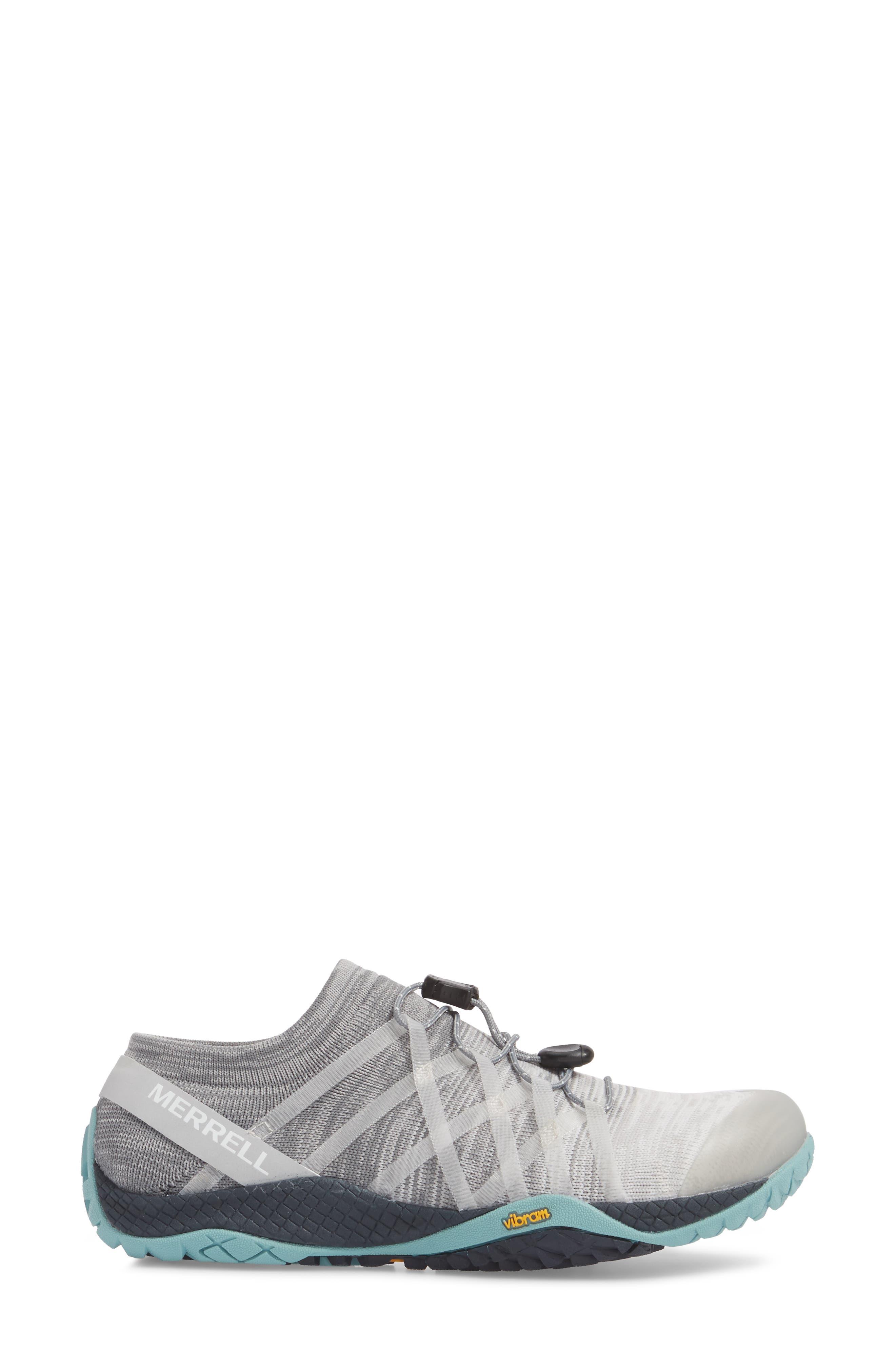 Trail Glove 4 Knit Running Shoe,                             Alternate thumbnail 3, color,                             Vapor