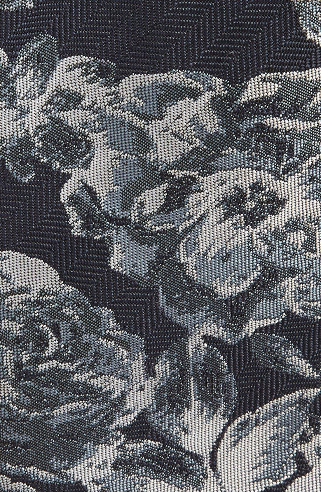 Alternate Image 2  - Topman Slim Floral Woven Tie