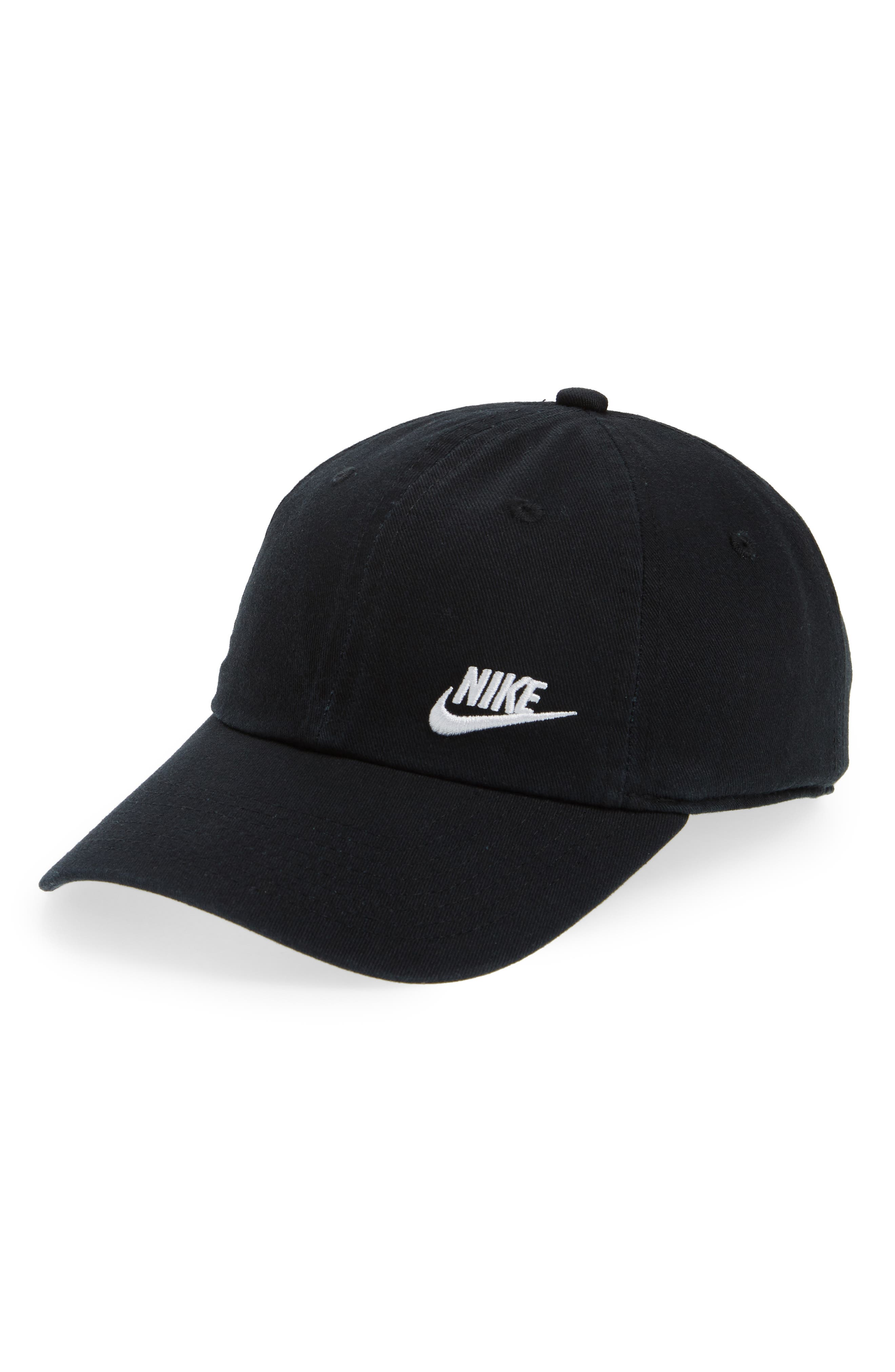 Women's H86 Swoosh Hat,                             Main thumbnail 1, color,                             Black/ White