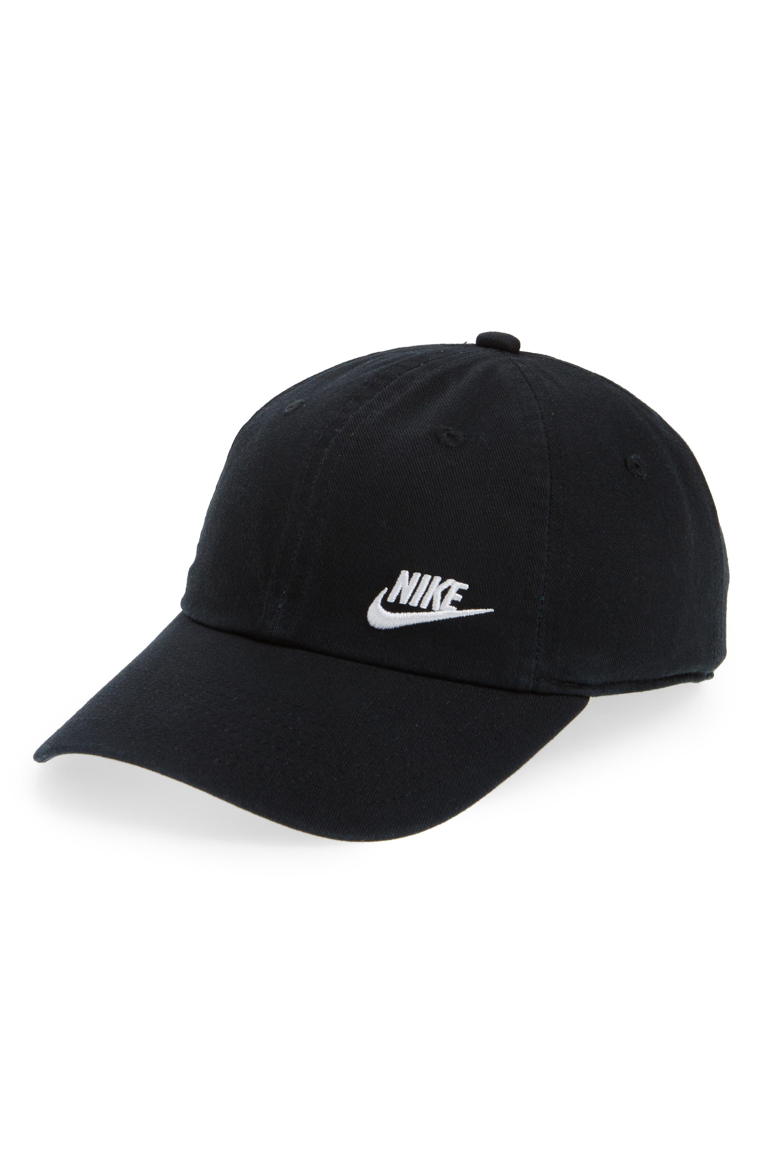 Women's H86 Swoosh Hat,                         Main,                         color, Black/ White