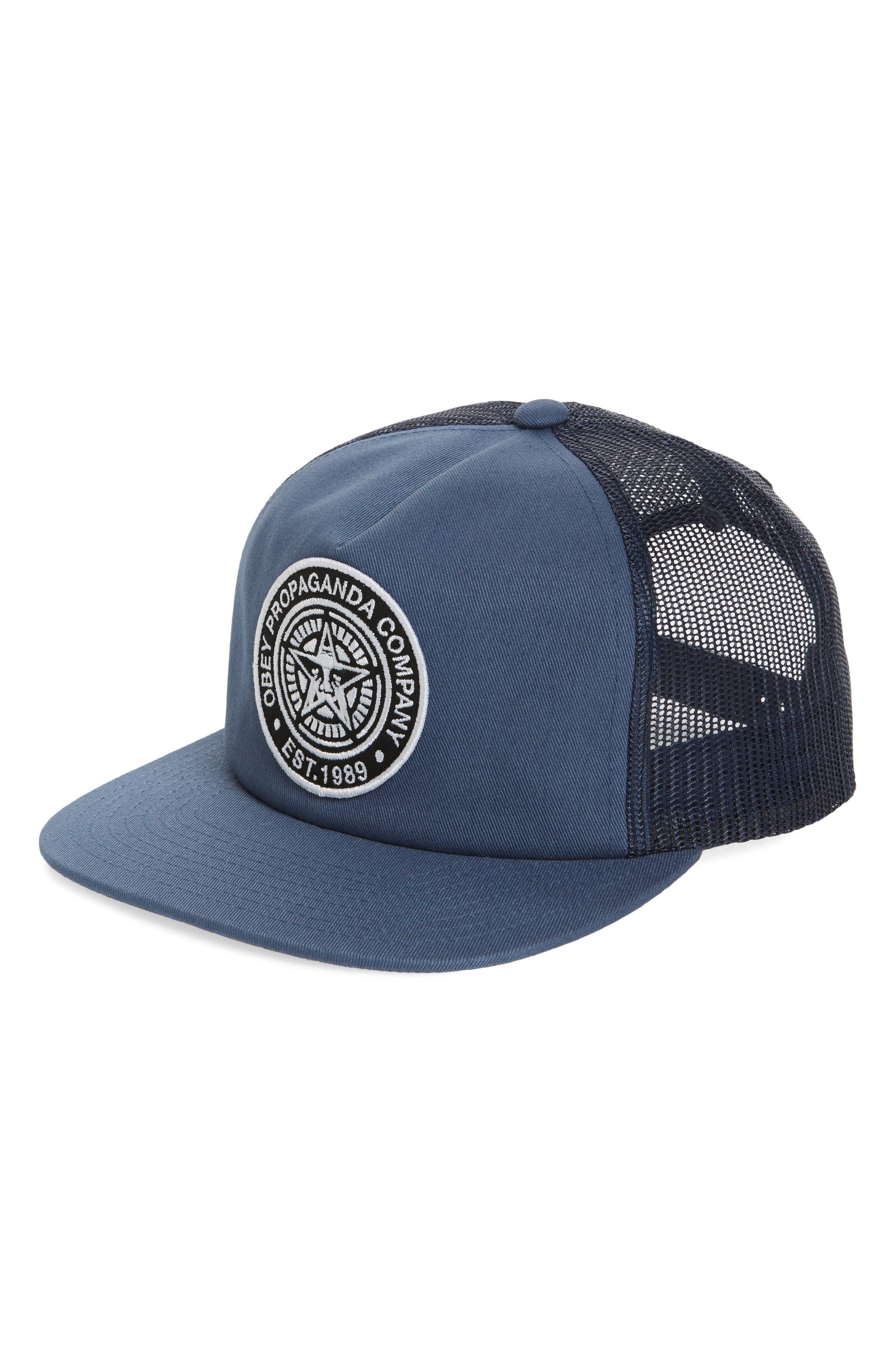 Established 89 II Trucker Cap,                             Main thumbnail 1, color,                             Dusty Blue