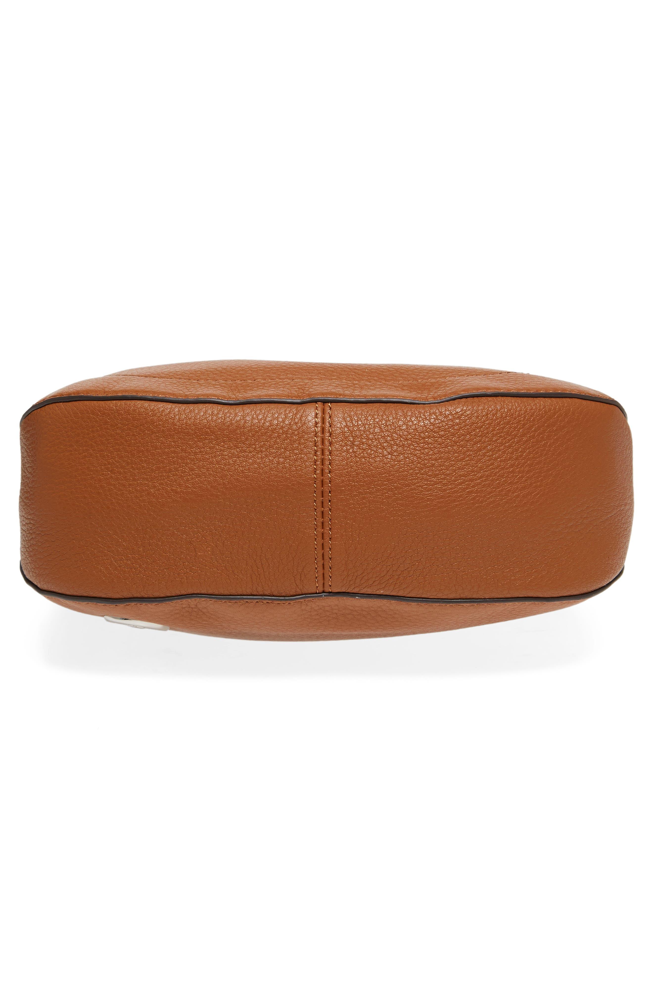 'Tala' Leather Crossbody Bag,                             Alternate thumbnail 7, color,                             Dark Rum