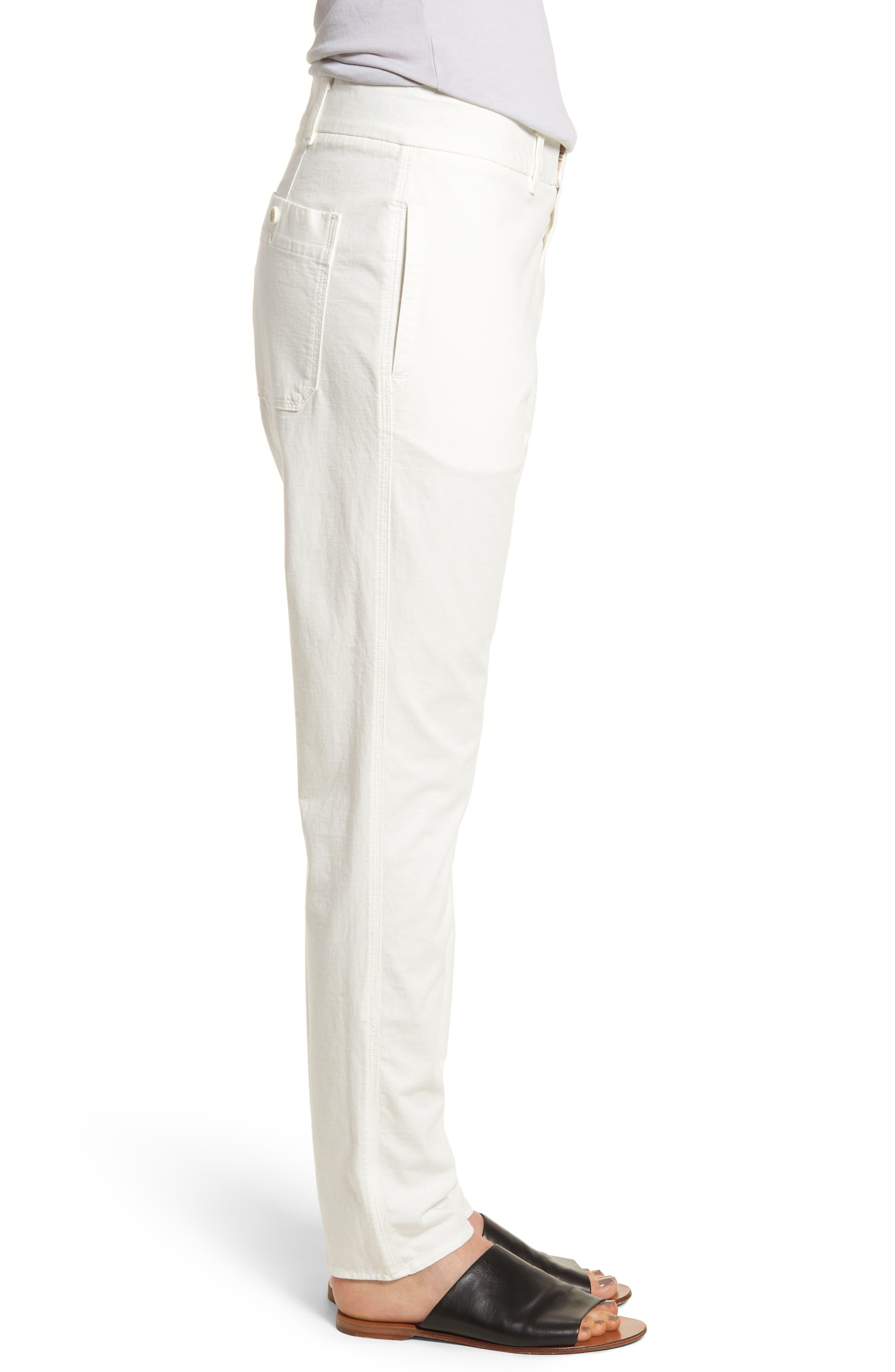 Full Surplus Jersey Pants,                             Alternate thumbnail 3, color,                             White