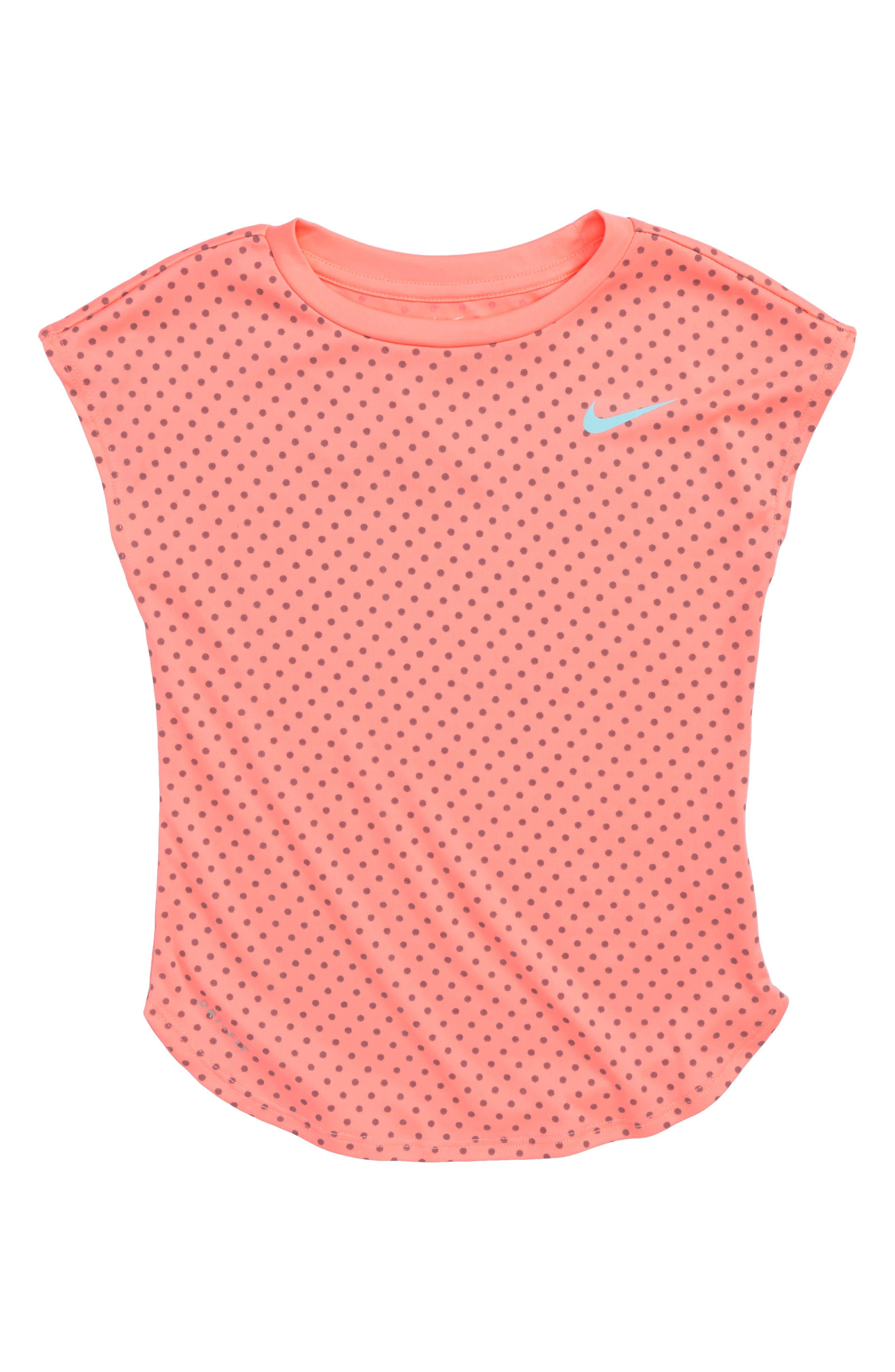 Dry Reflective Dot Tee,                         Main,                         color, Light Atomic Pink