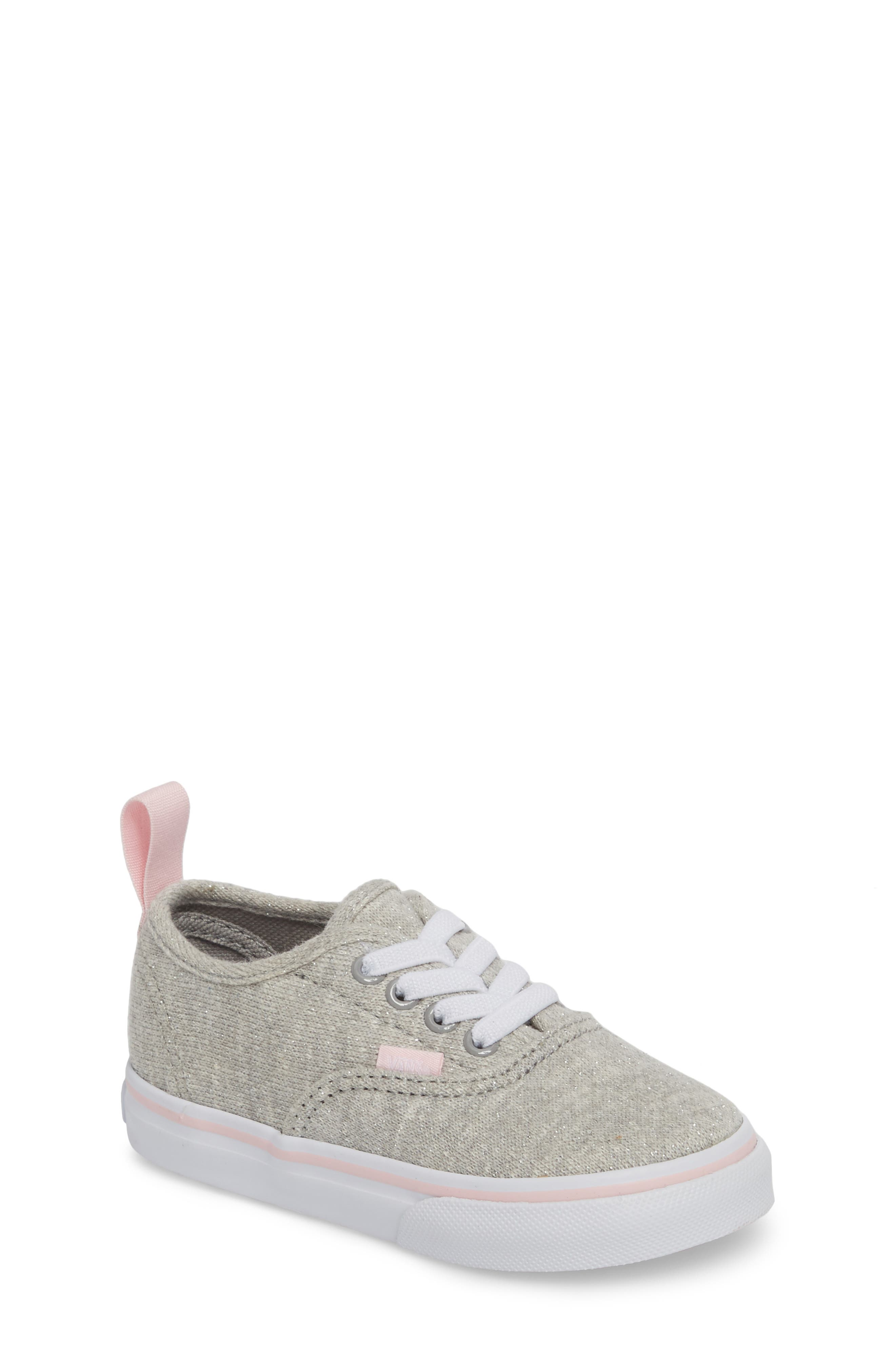 Authentic Glitter Sneaker,                             Main thumbnail 1, color,                             Gray/ Pink Shimmer Jersey
