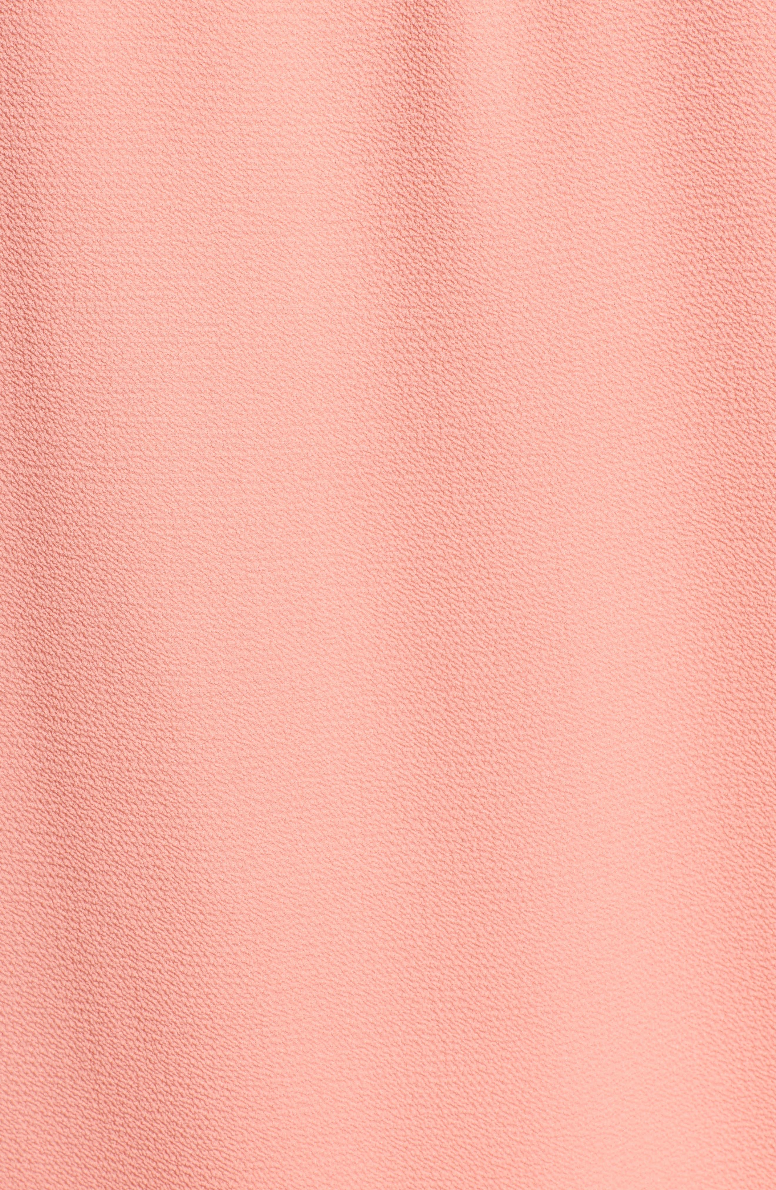 Pintuck Sleeveless Crepe Blouse,                             Alternate thumbnail 6, color,                             892-Sweet Papaya