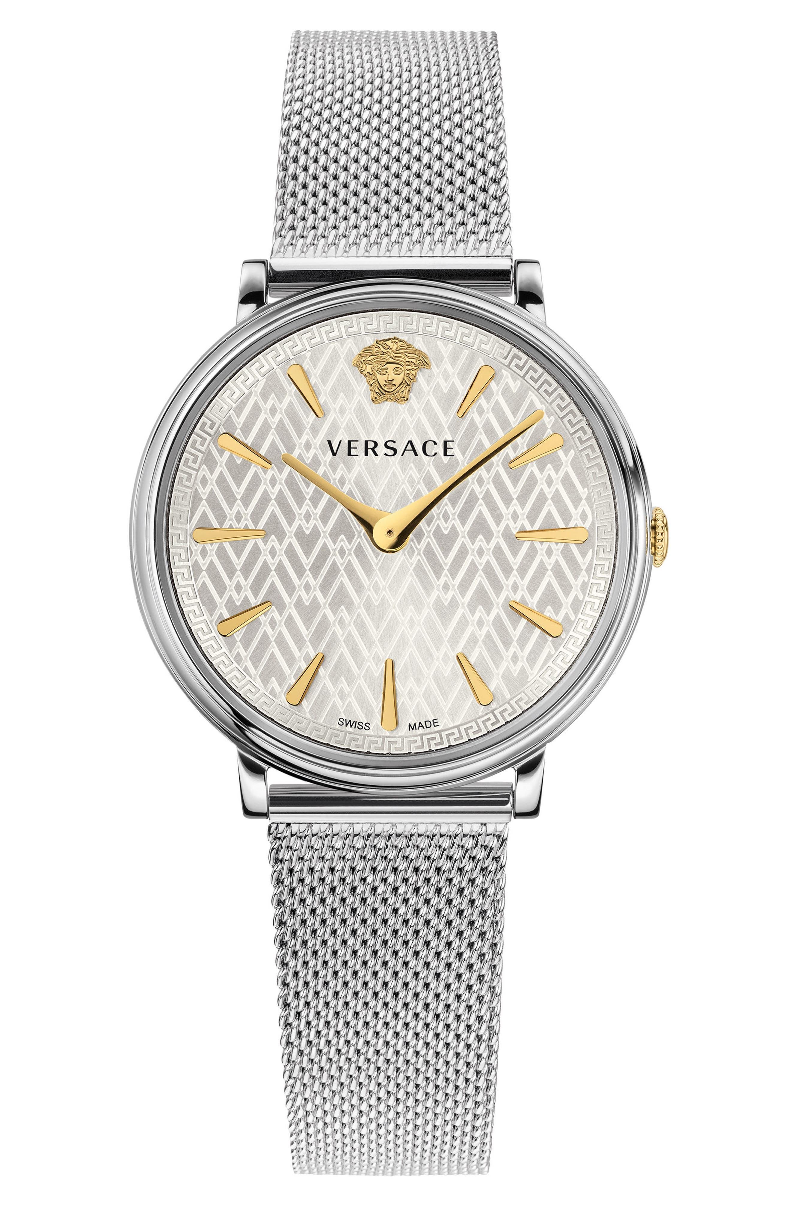 Main Image - Versace Manifesto Mesh Strap Watch, 38mm