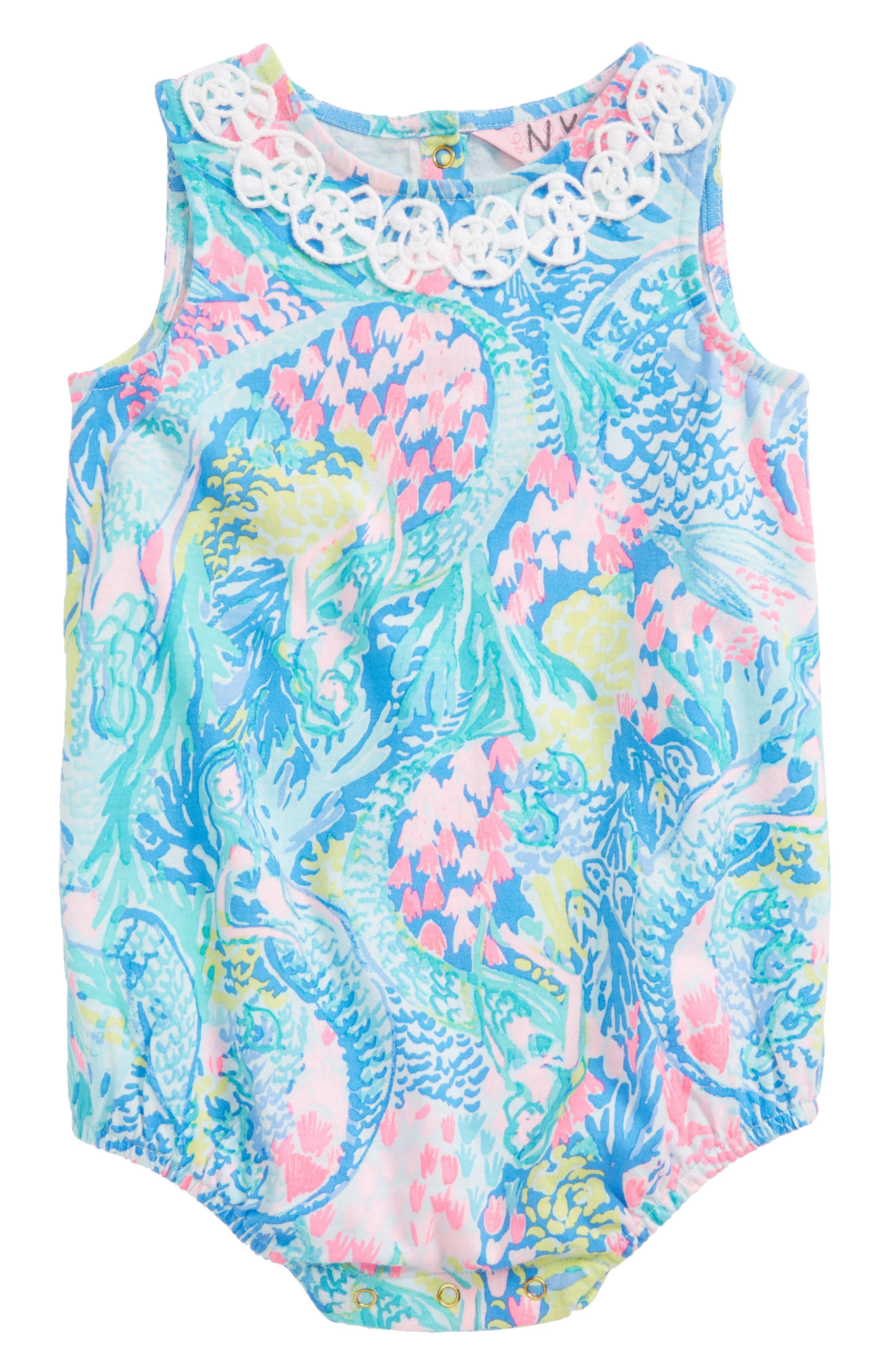 May Bodysuit,                             Main thumbnail 1, color,                             Multi Mermaids Cove