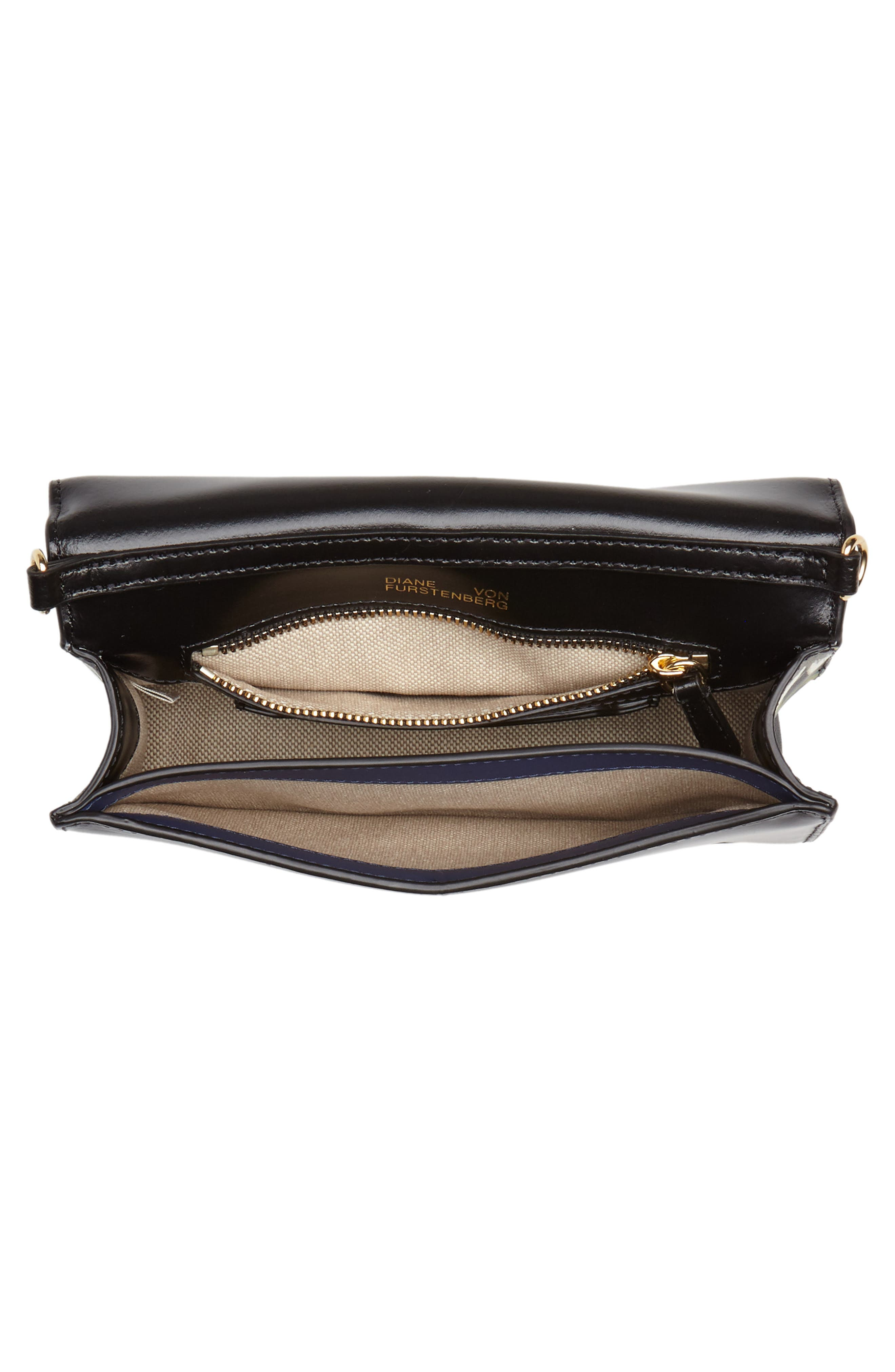 Soirée Leather Convertible Crossbody Bag,                             Alternate thumbnail 5, color,                             Harlow Black