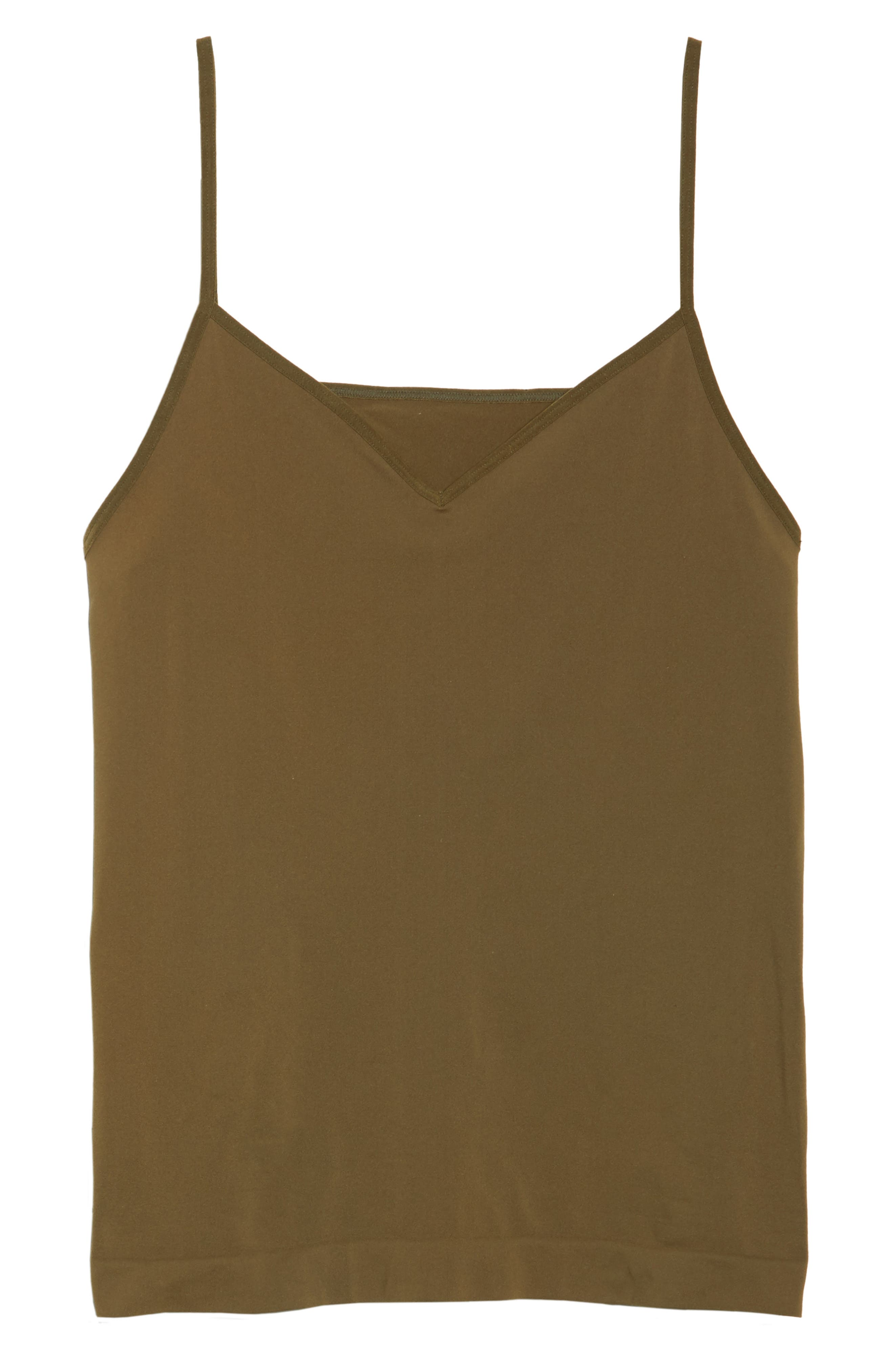 Seamless Two-Way Camisole,                             Alternate thumbnail 6, color,                             Olive Tree