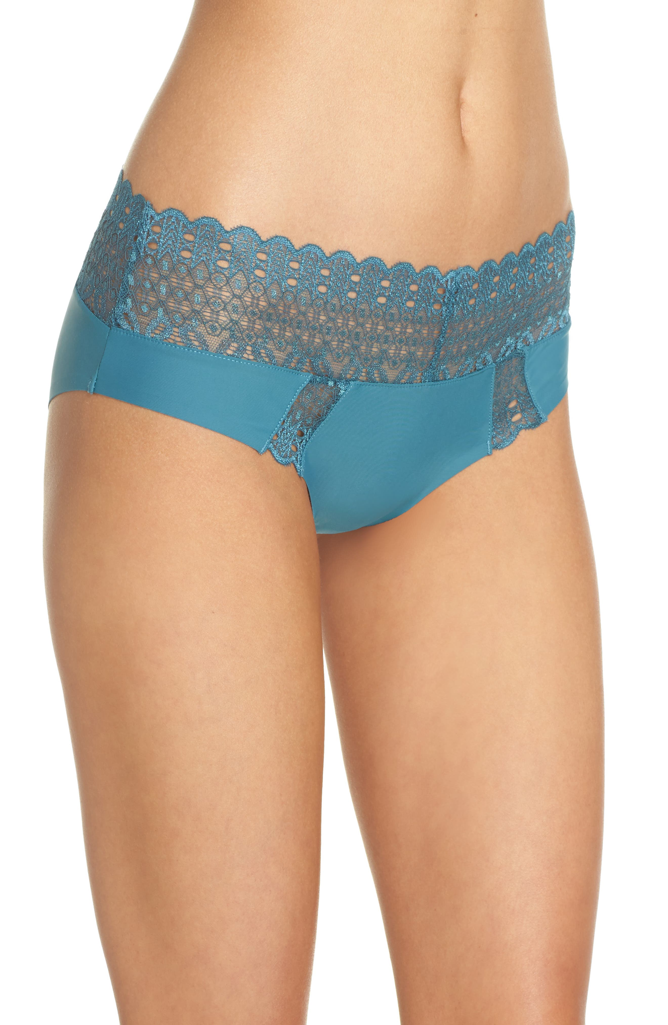 Lace Hipster Briefs,                             Alternate thumbnail 3, color,                             Love Fern