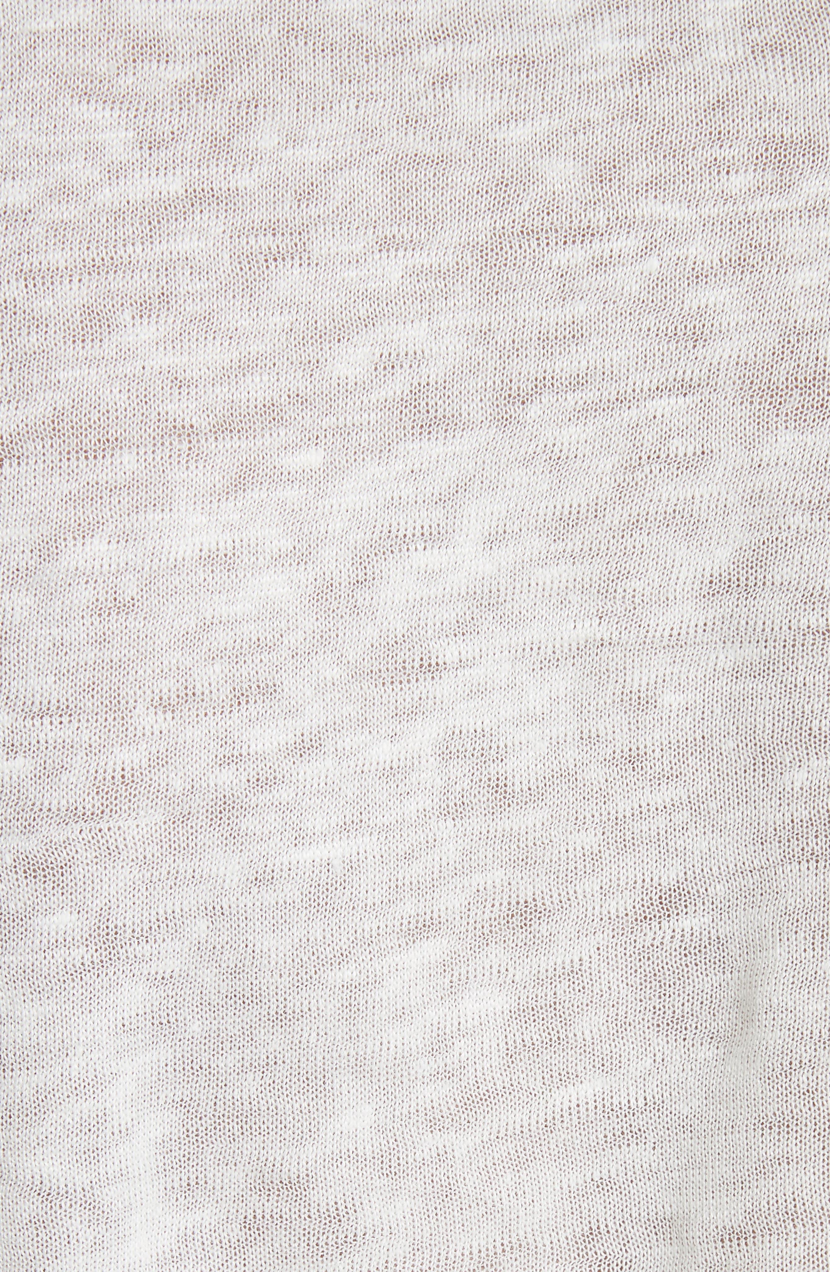 Silk & Linen Tank,                             Alternate thumbnail 5, color,                             Milk