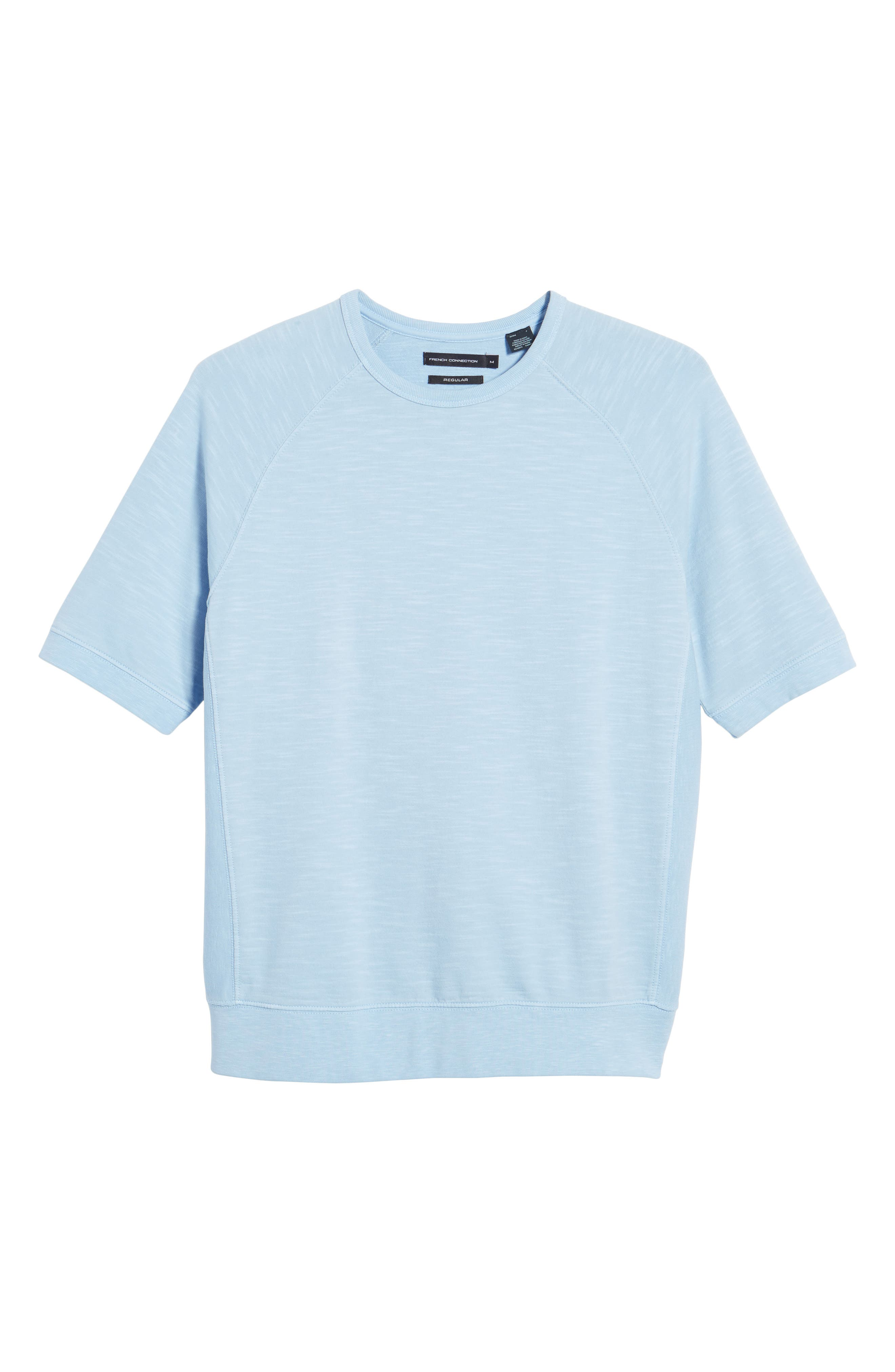 Workout Relaxed Fit Crewneck T-Shirt,                             Alternate thumbnail 6, color,                             Sky Blue