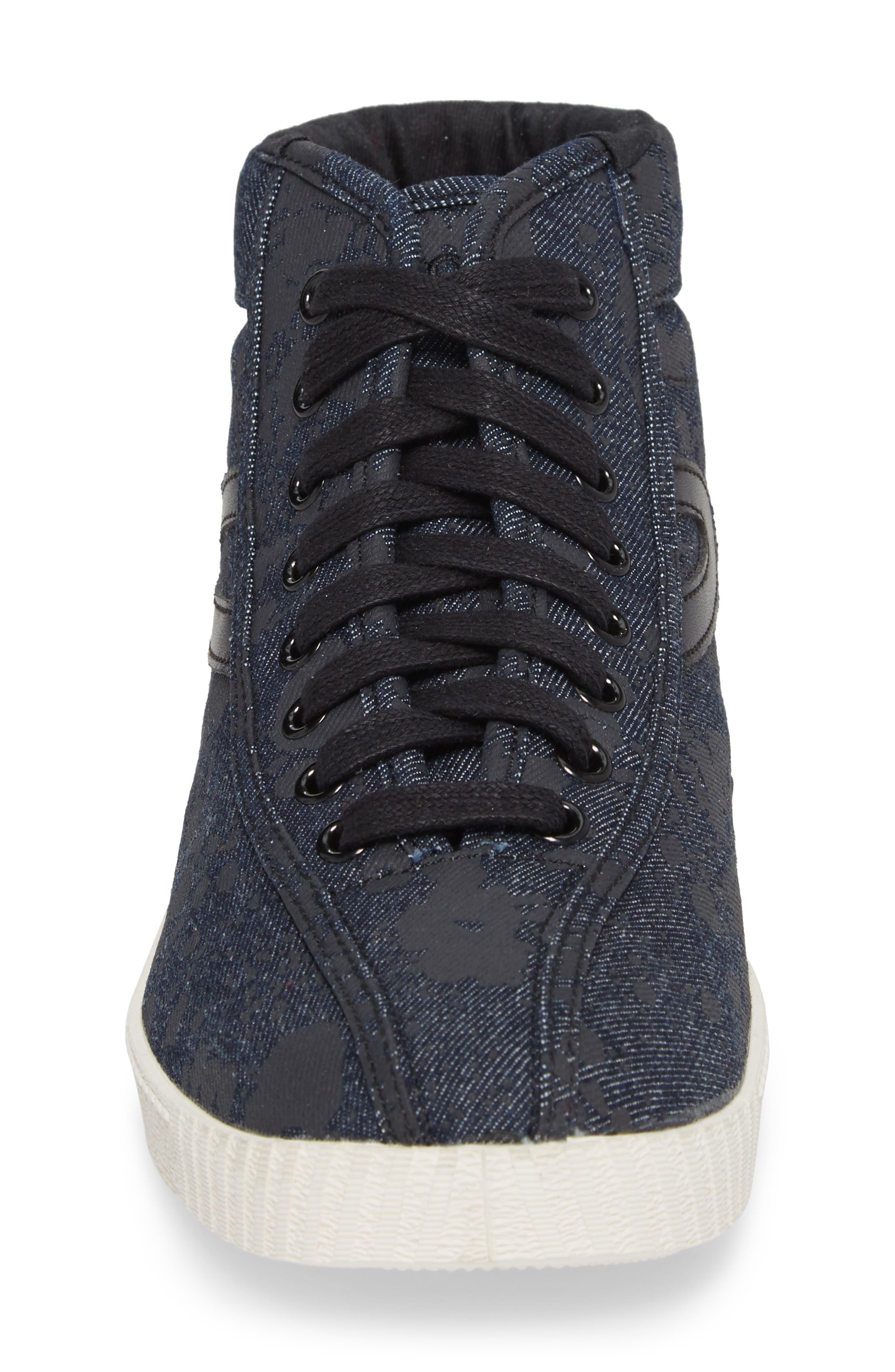 Nylite High Top Sneaker,                             Alternate thumbnail 4, color,                             Nero Opaco/ Black Denim