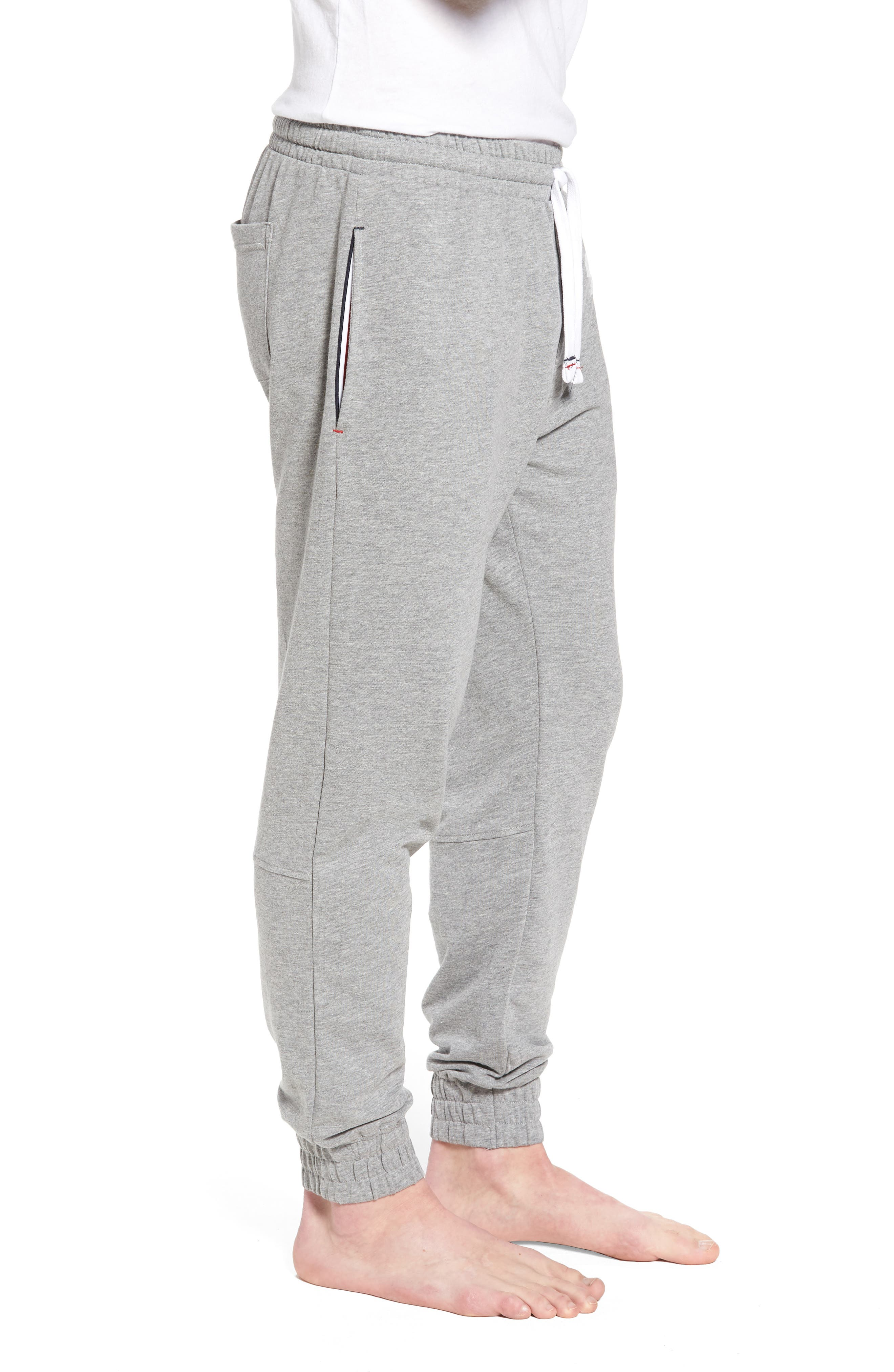 Jogger Lounge Pants,                             Alternate thumbnail 3, color,                             Grey Heather