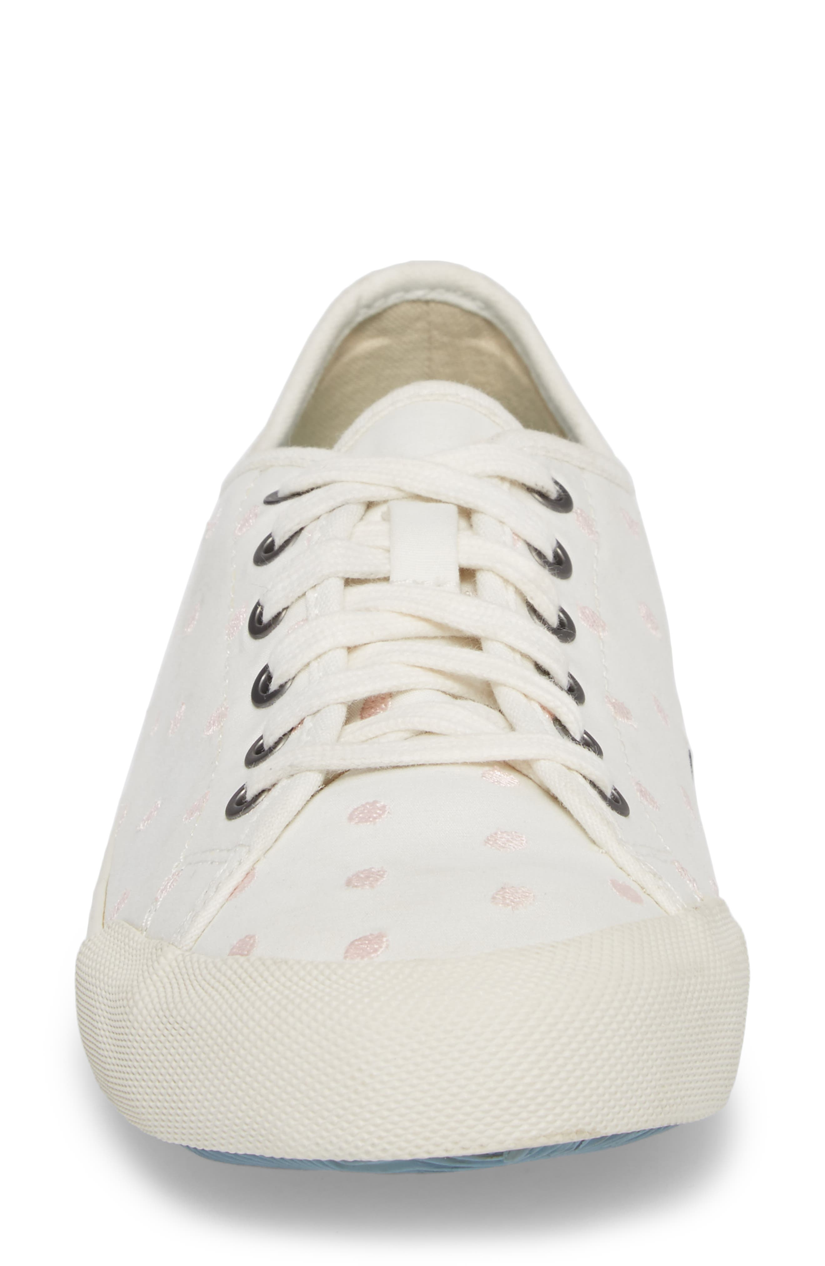 Monterey Embroidered Low Top Sneaker,                             Alternate thumbnail 4, color,                             Pearl