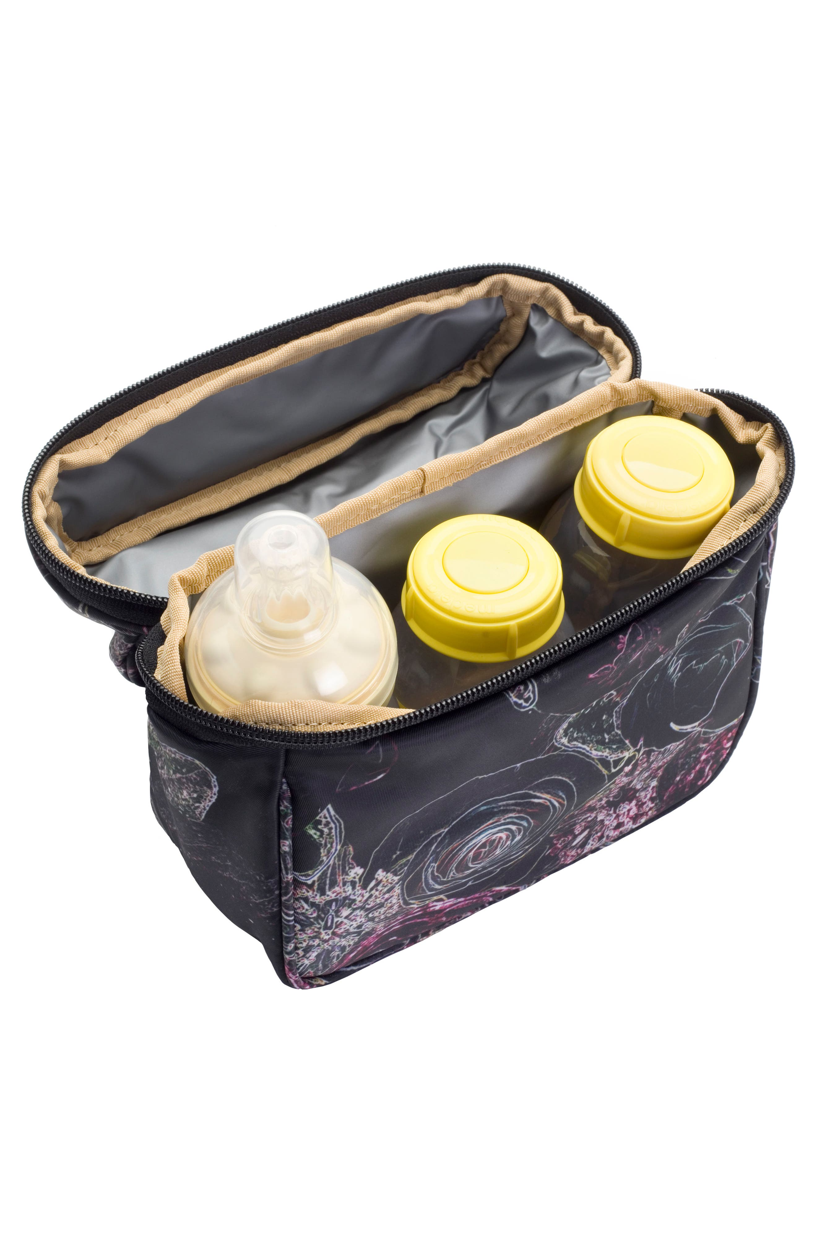 Hero Water Resistant Nylon Backpack Diaper Bag,                             Alternate thumbnail 16, color,                             Neon Floral