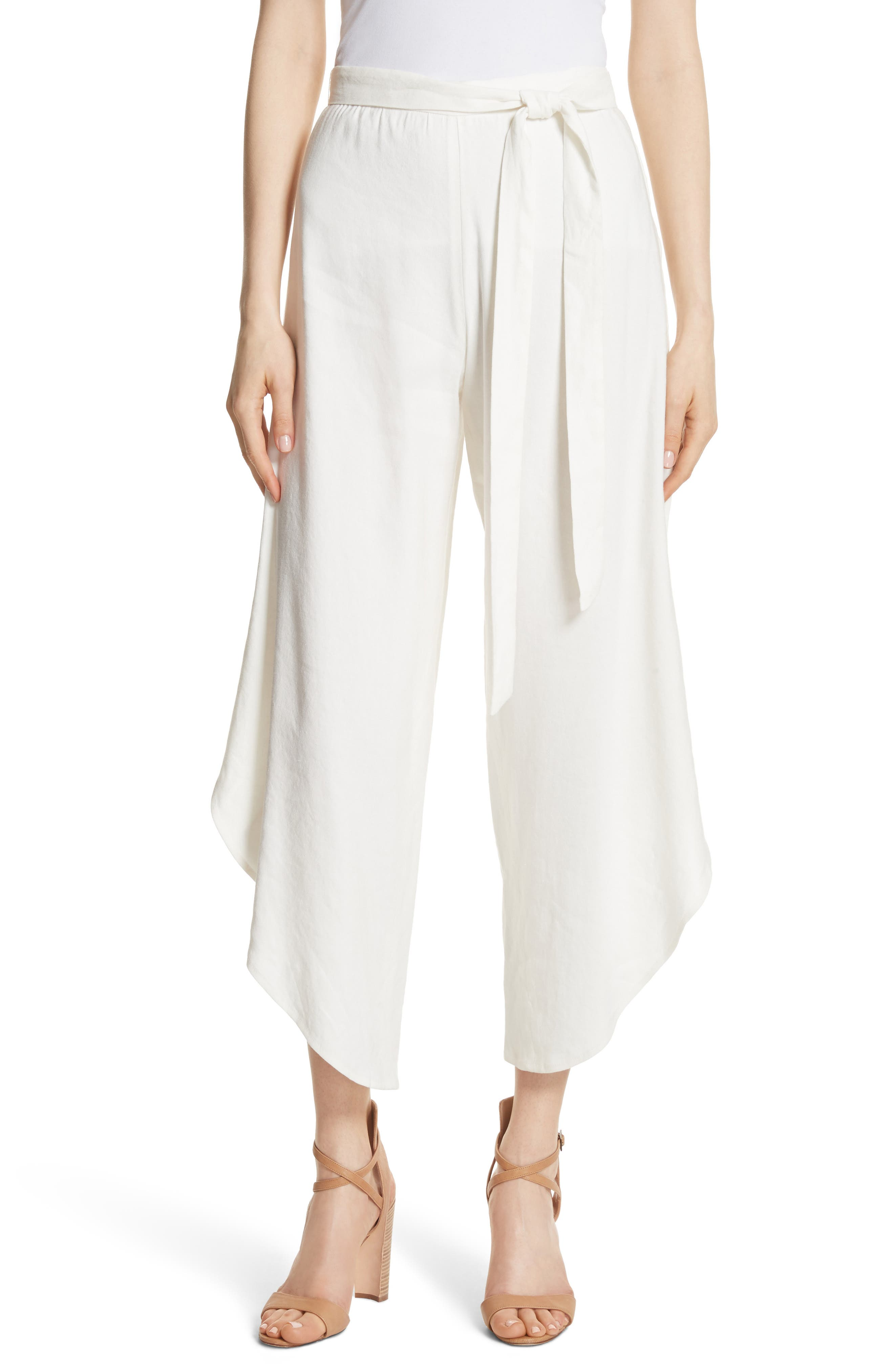 Ezra Petal Pants,                         Main,                         color, Off White