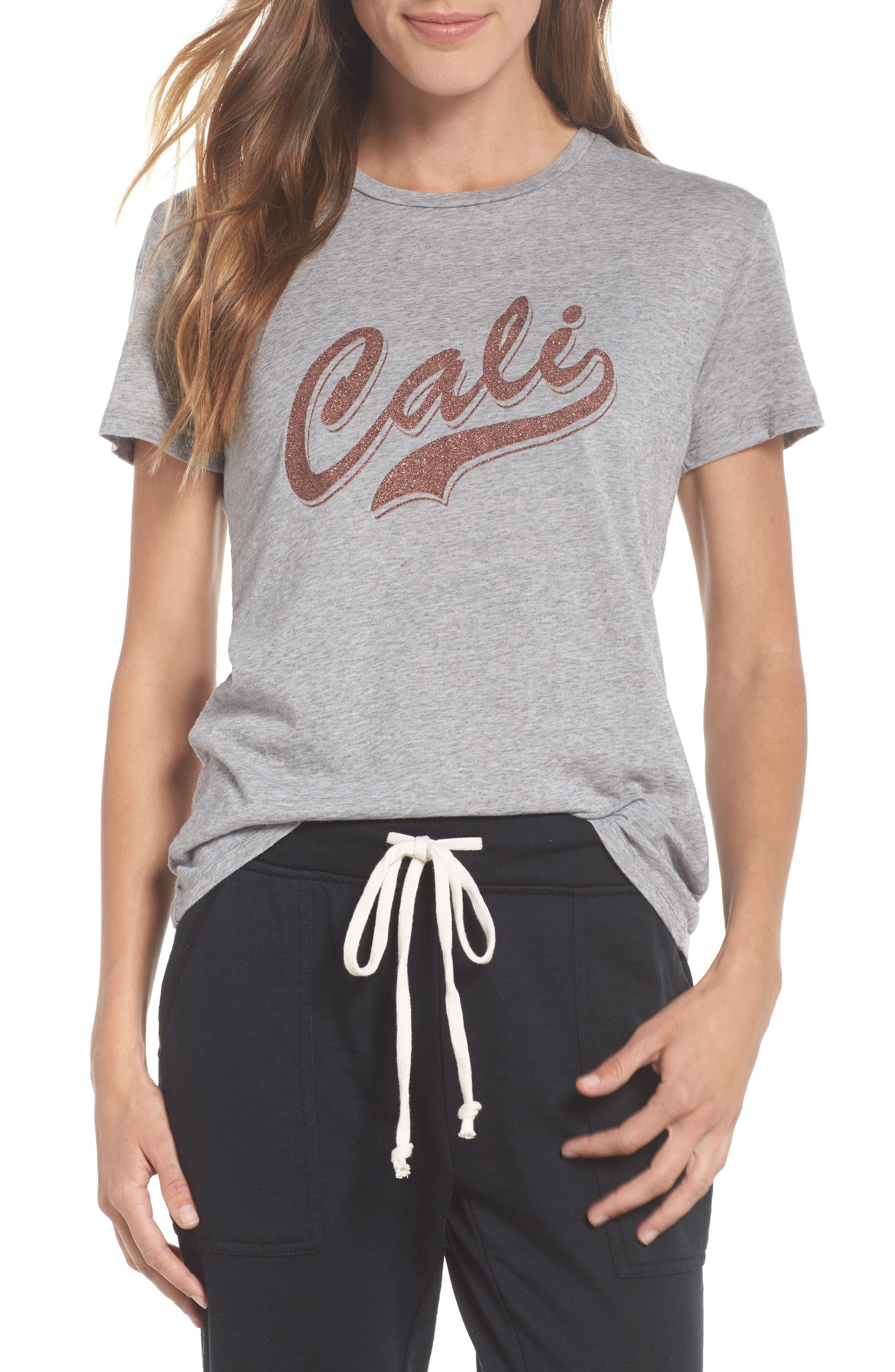 Cali Tee,                         Main,                         color, Heather Grey