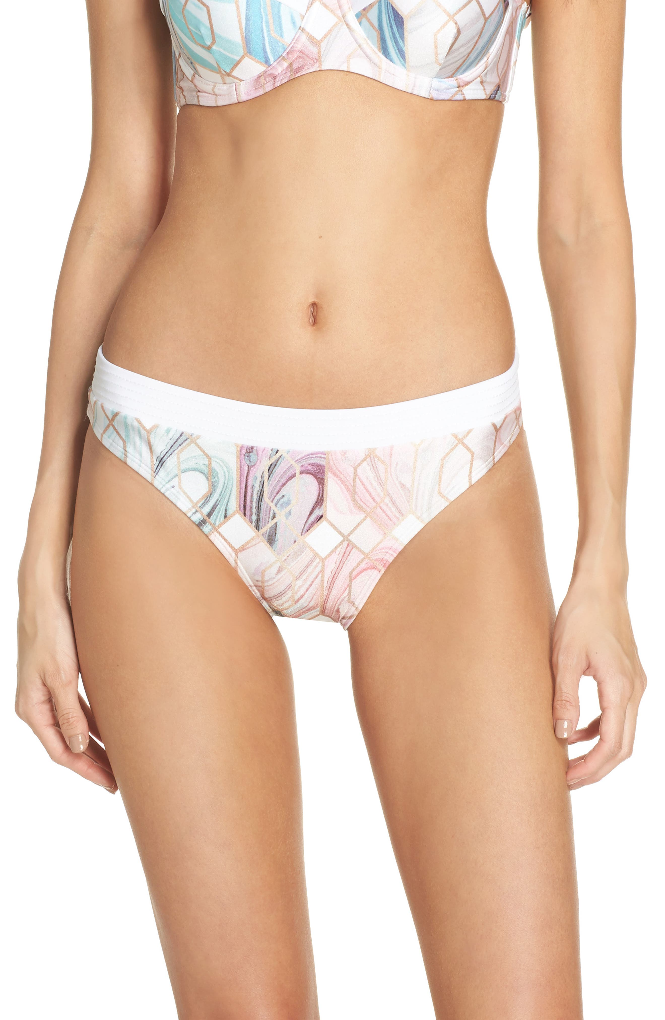 Alternate Image 1 Selected - Ted Baker London Sea of Clouds Hipster Bikini Bottoms