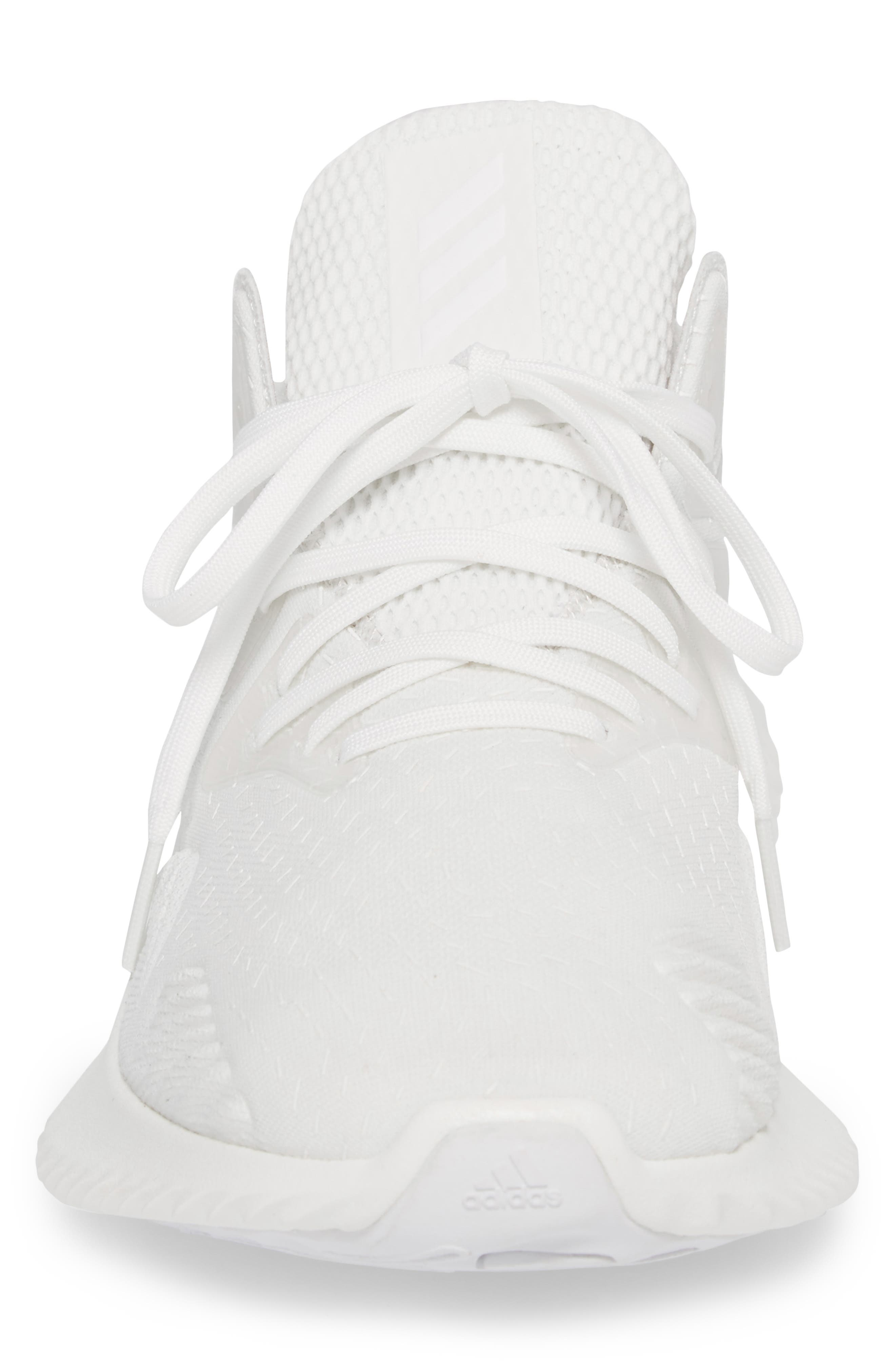 AlphaBounce Beyond Knit Running Shoe,                             Alternate thumbnail 4, color,                             Core Black/ Non-Dyed/ White