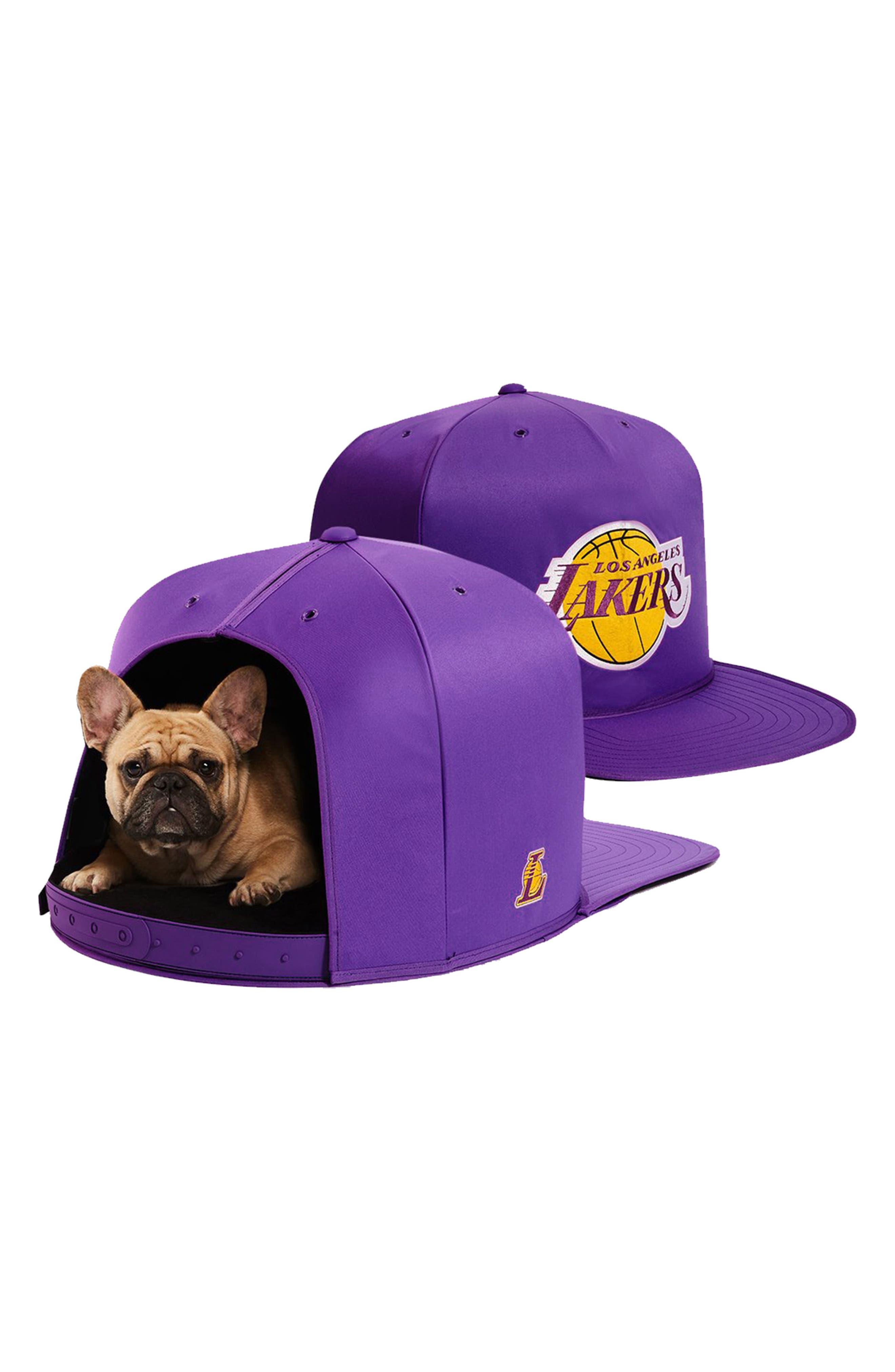 Los Angeles Lakers Pet Bed,                             Alternate thumbnail 3, color,                             Purple