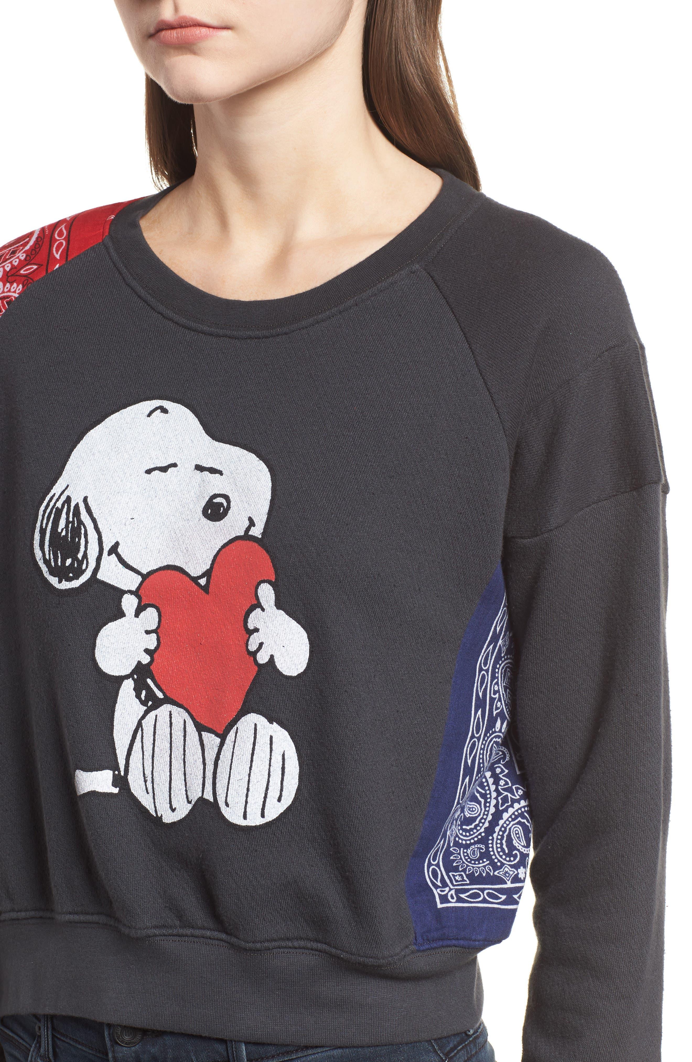 Alternate Image 5  - Daydreamer Snoopy Bandana Panel Sweatshirt (Limited Edition) (Nordstrom Exclusive)