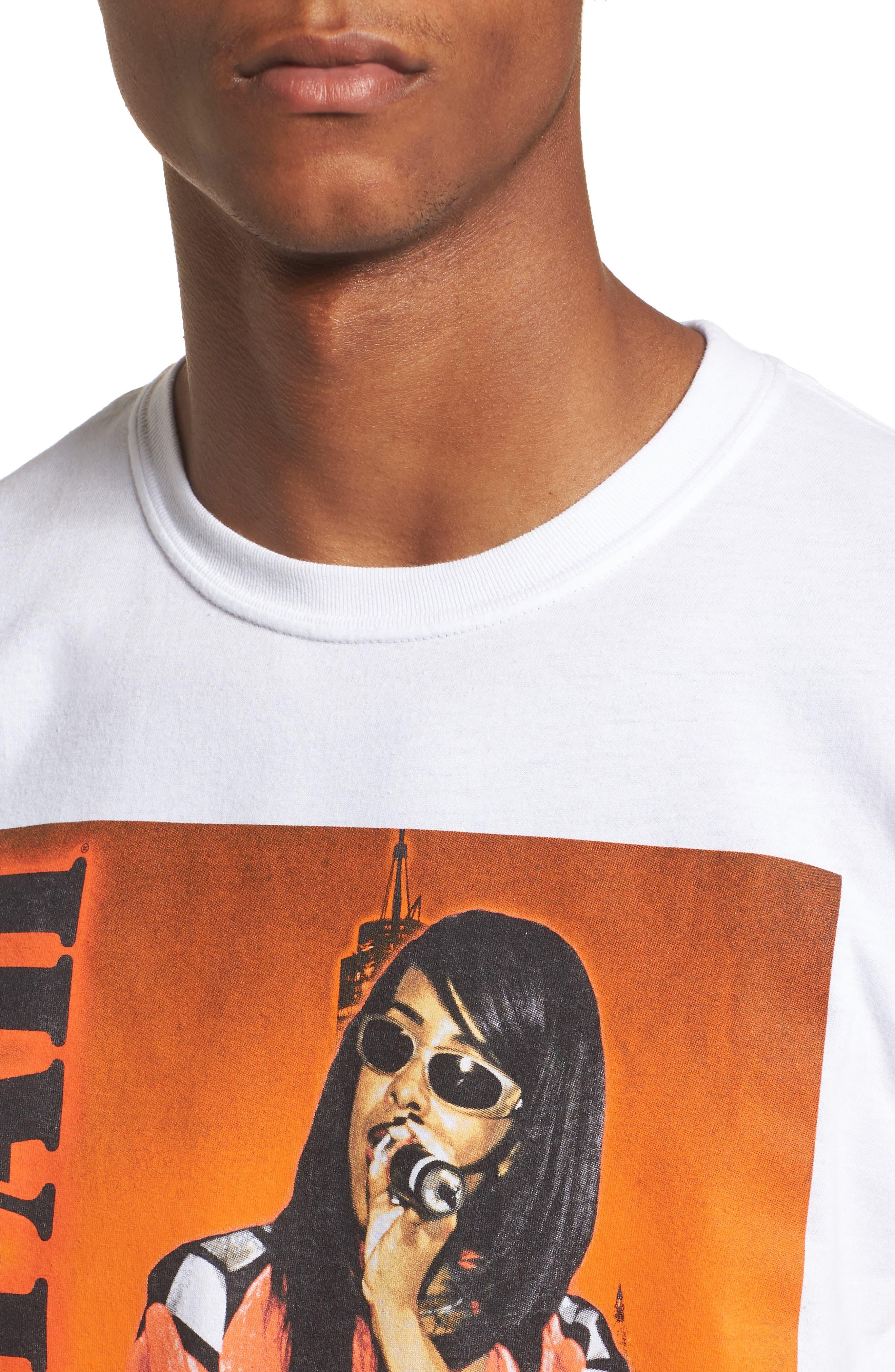 Aaliyah T-Shirt,                             Alternate thumbnail 4, color,                             White Tee Aaliyah