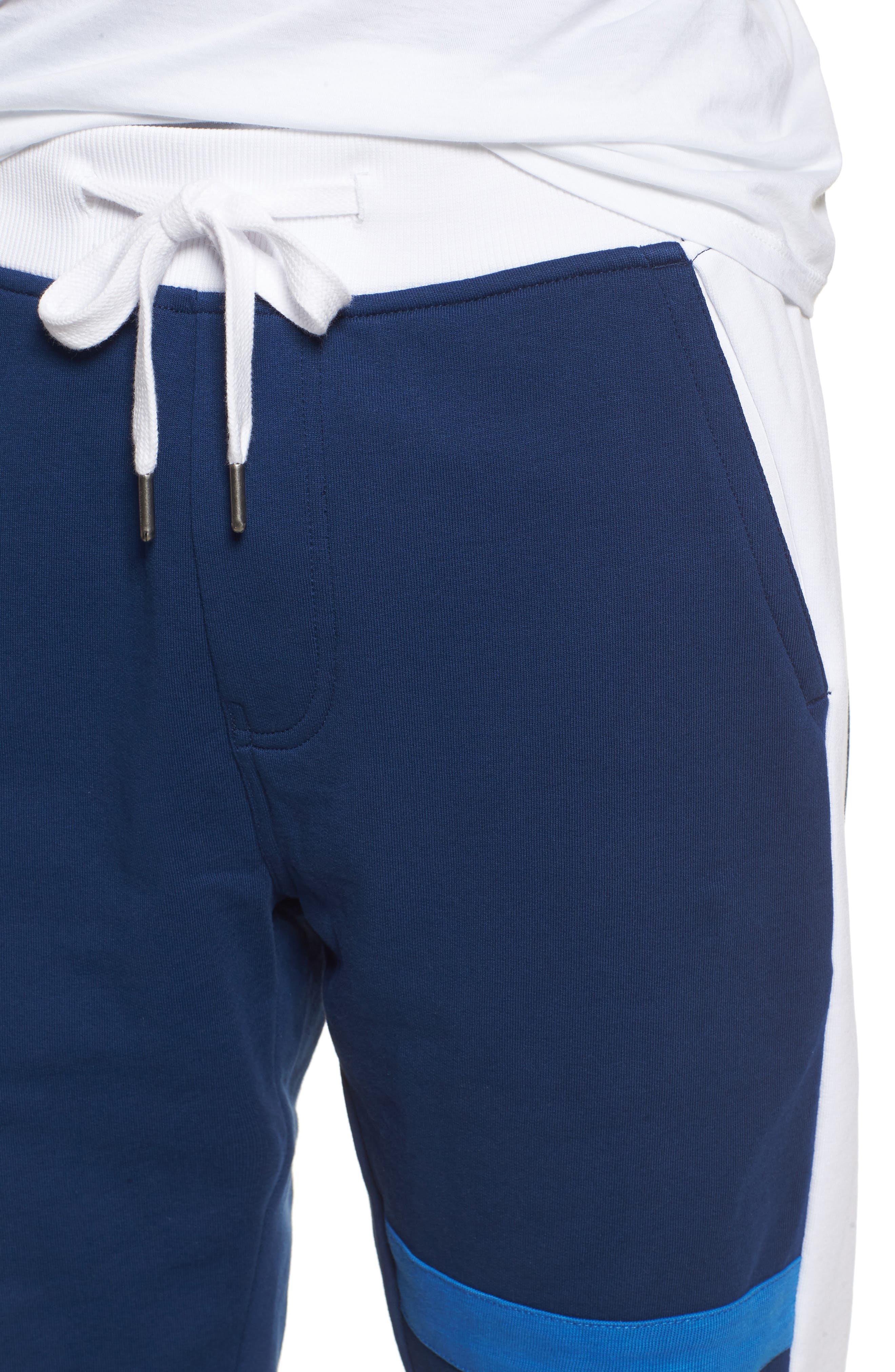 Athletic Collage Sweatpants,                             Alternate thumbnail 4, color,                             Night Rider