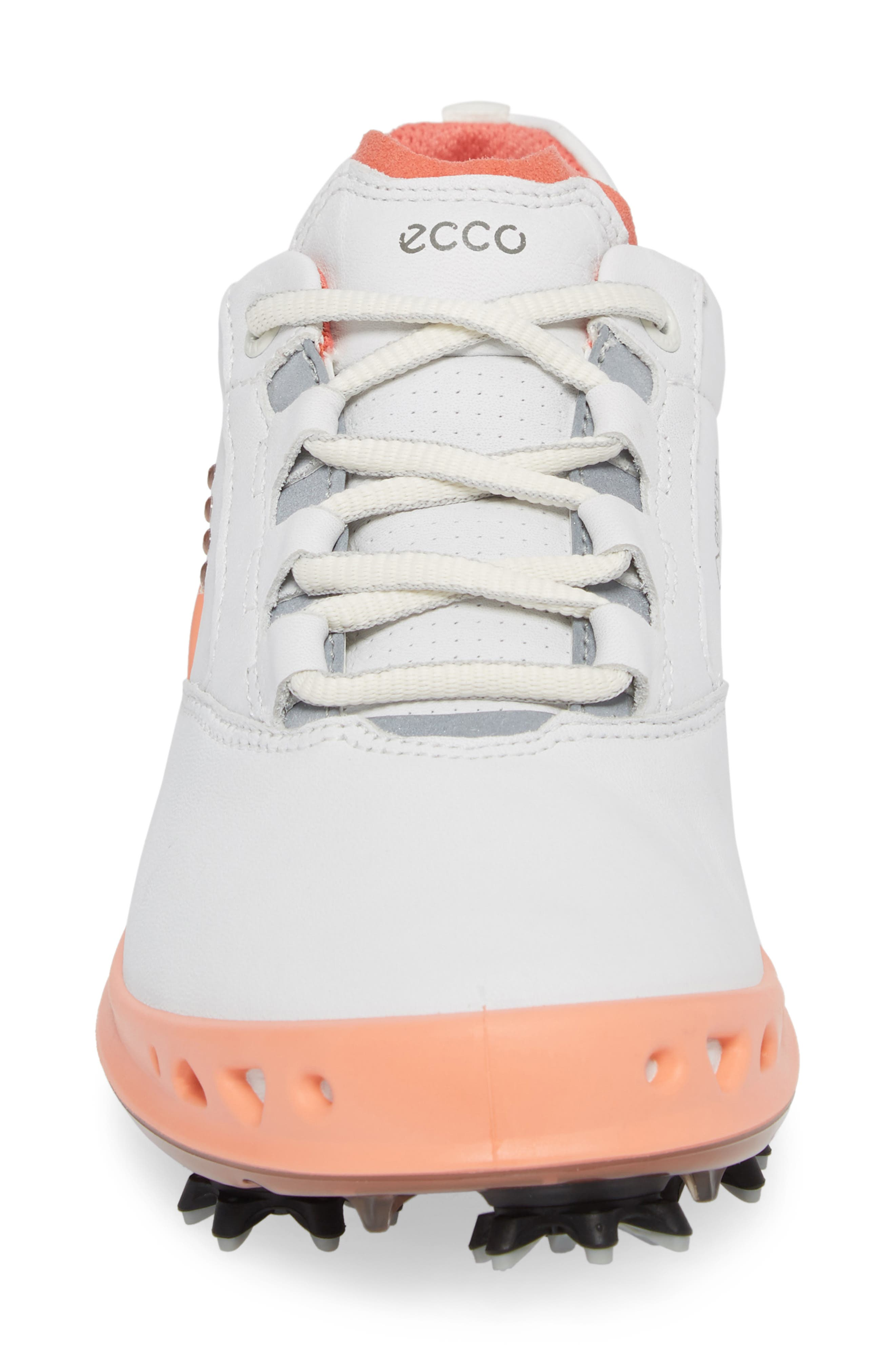 Cage Gore-Tex<sup>®</sup> Golf Shoe,                             Alternate thumbnail 4, color,                             White/ Coral Leather
