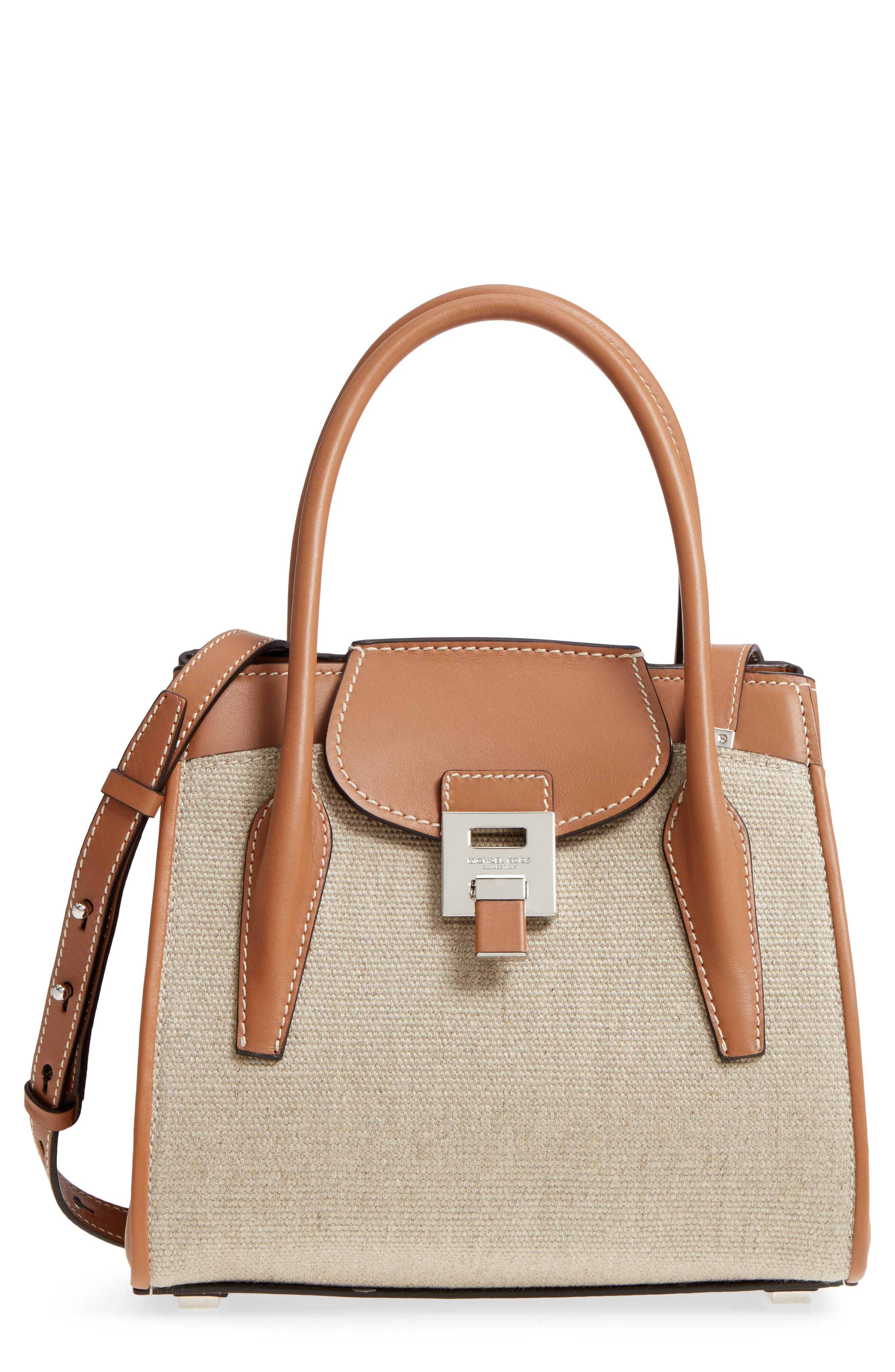 Michael Kors Medium Bancroft Linen Satchel
