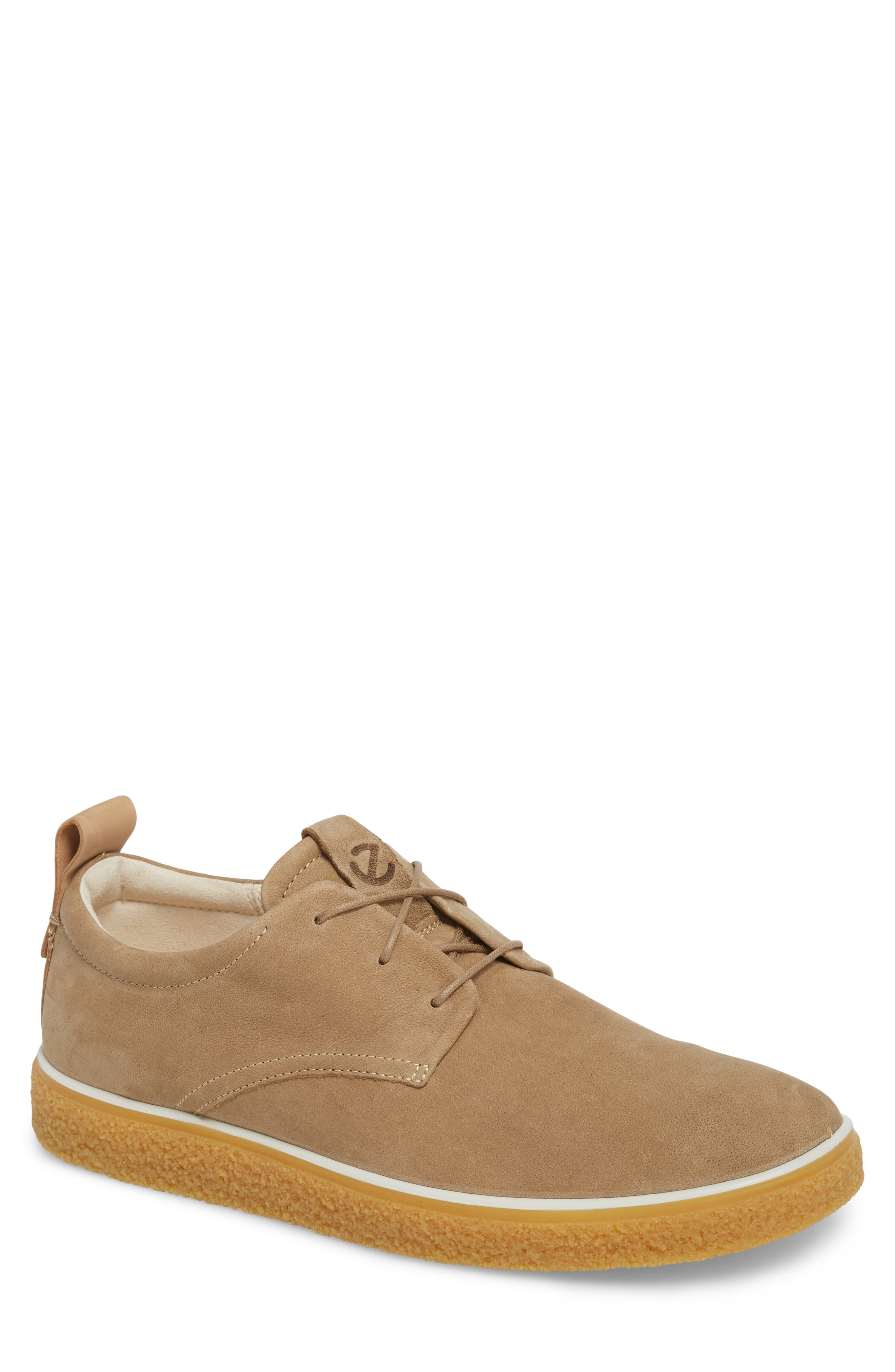 Crepetray Plain Toe Derby,                         Main,                         color, Brown Leather