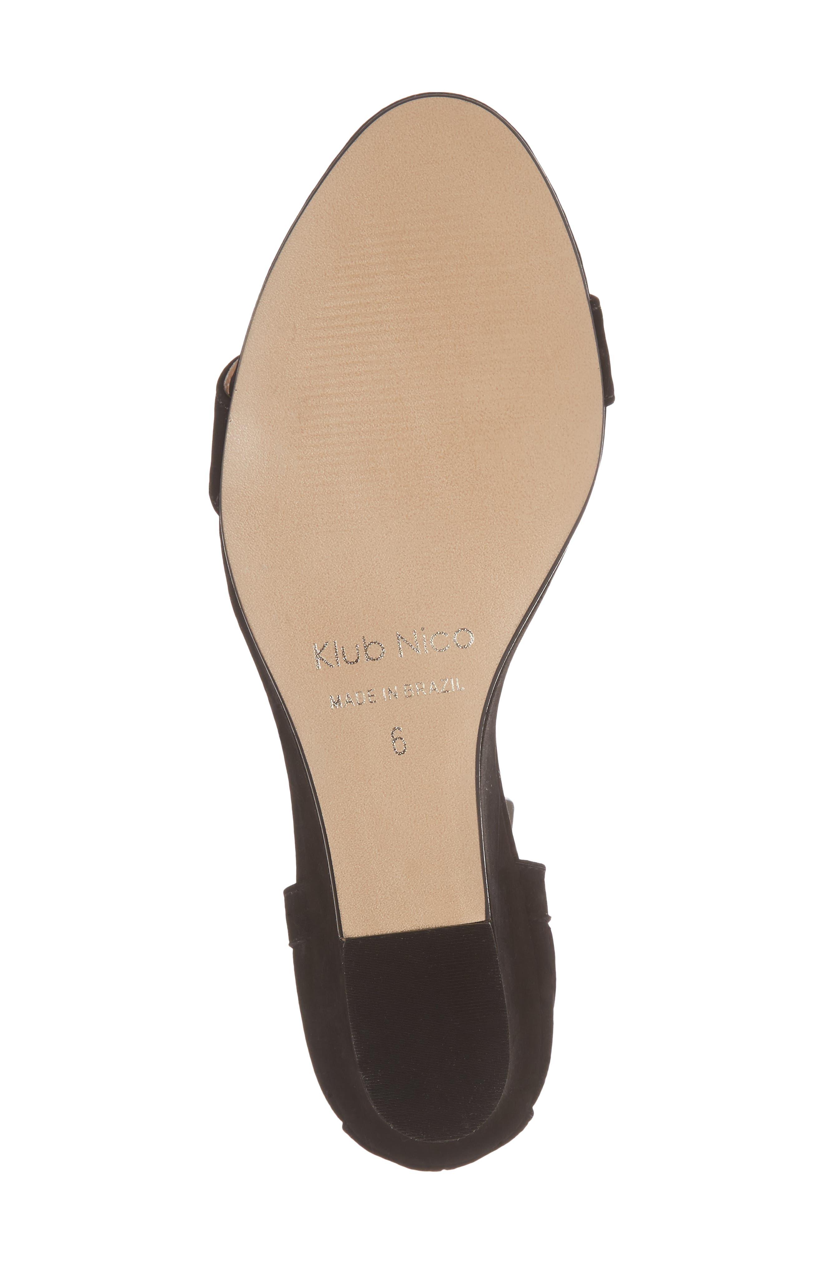 Kaeli Wedge Sandal,                             Alternate thumbnail 6, color,                             Black Leather