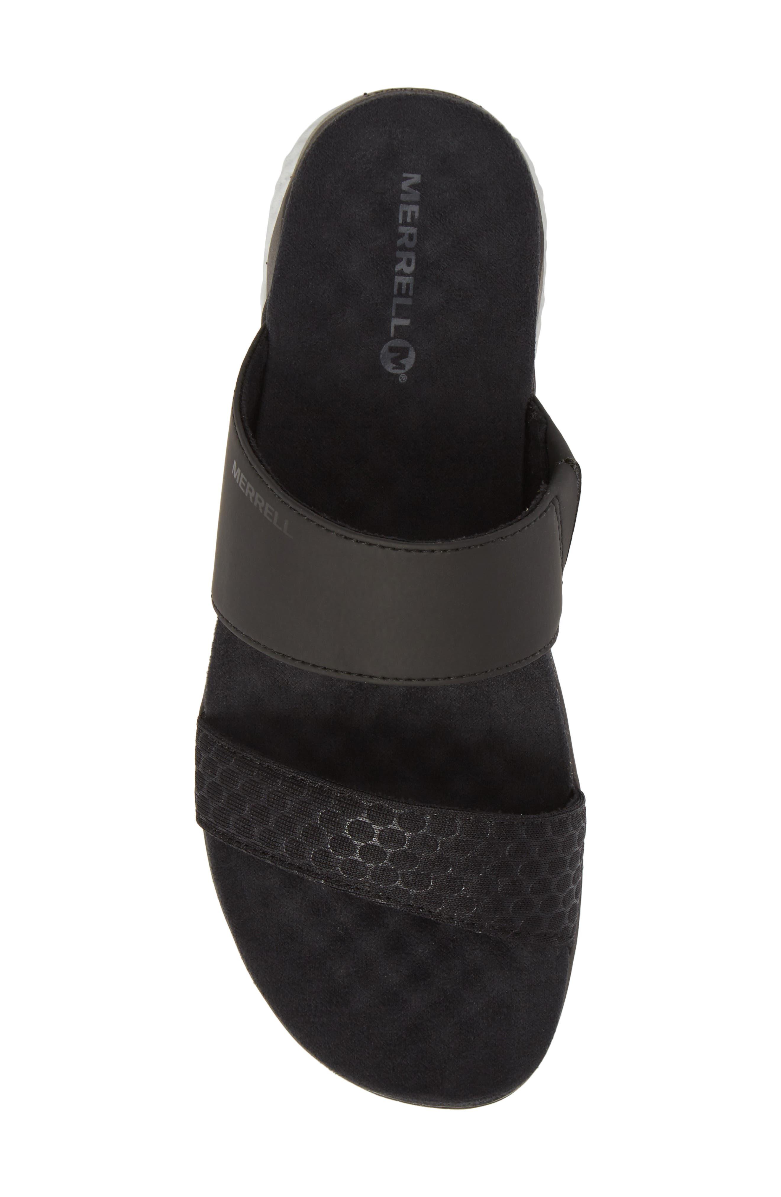 1SIX8 Linna Air Cushion+ Slide Sandal,                             Alternate thumbnail 5, color,                             Black