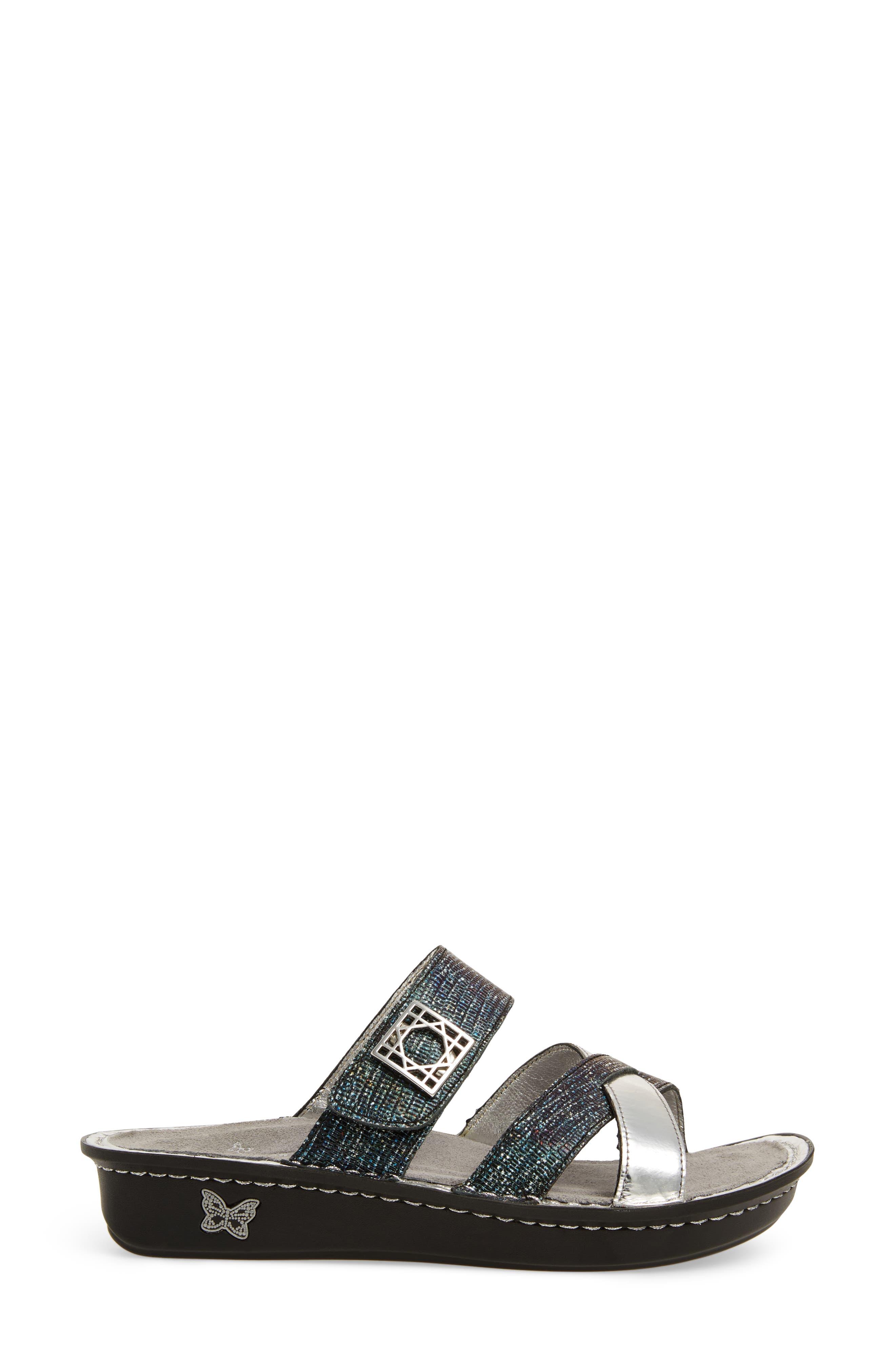 by PG Lite Victoriah Slide Sandal,                             Alternate thumbnail 3, color,                             Glimmer Glam Leather