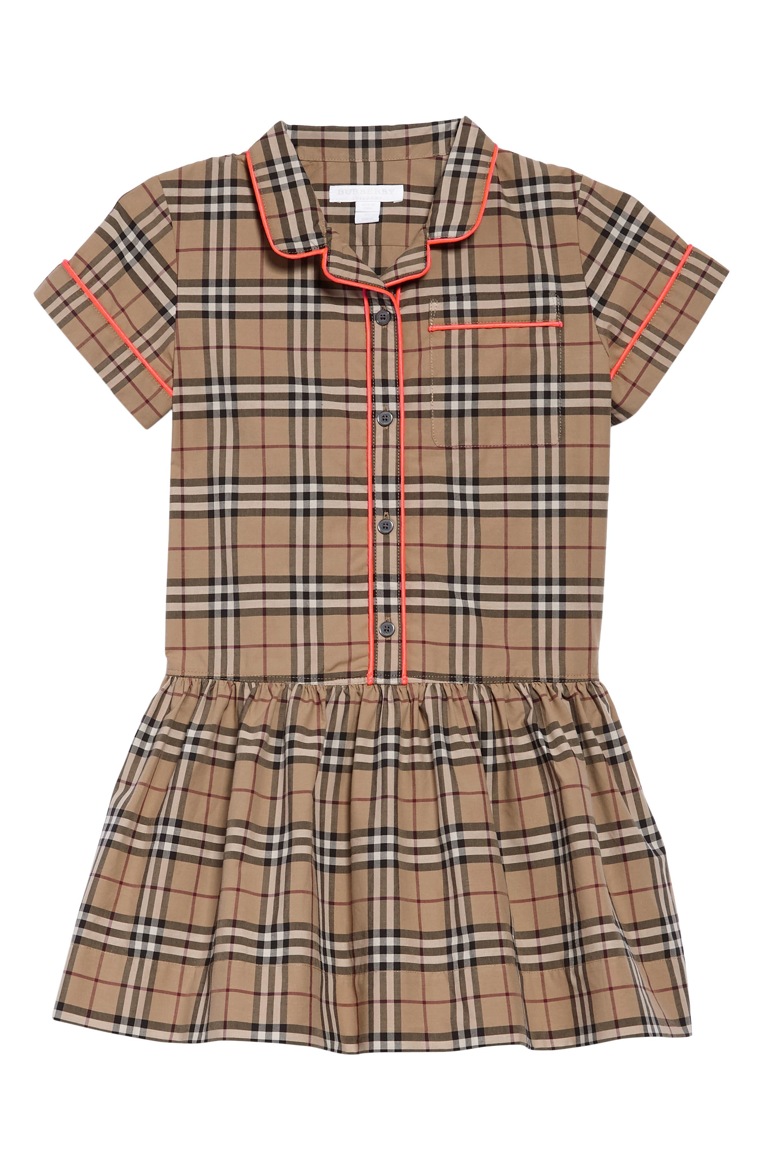 Burberry Melanie Drop Waist Dress (Little Girls & Big Girls)