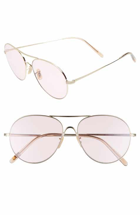 2b0913b8ae4 Oliver Peoples Rockmore 58mm Aviator Sunglasses