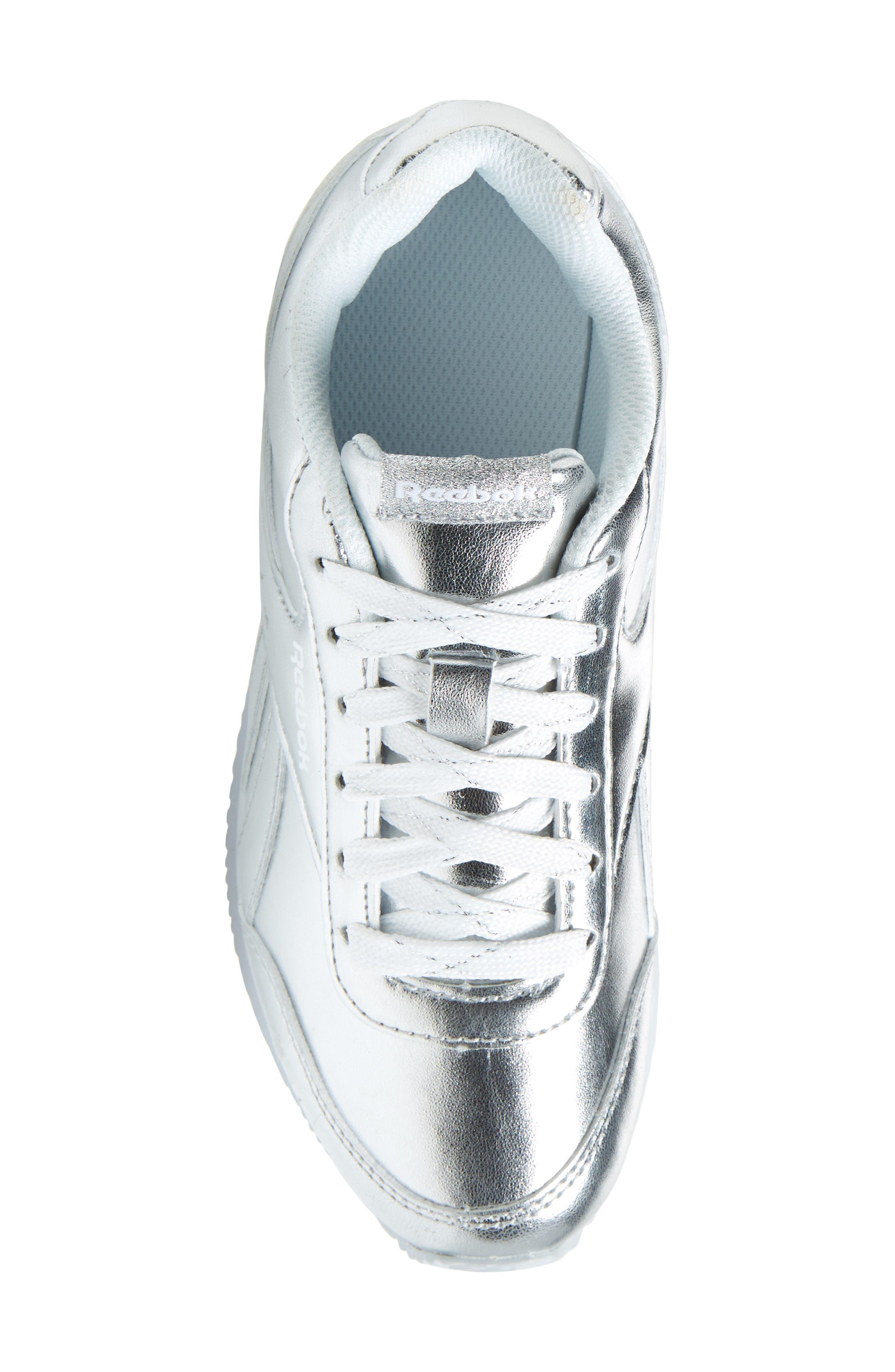 Royal Classic Jogger 2.0 Sneaker,                             Alternate thumbnail 5, color,                             Silver Metallic/ White