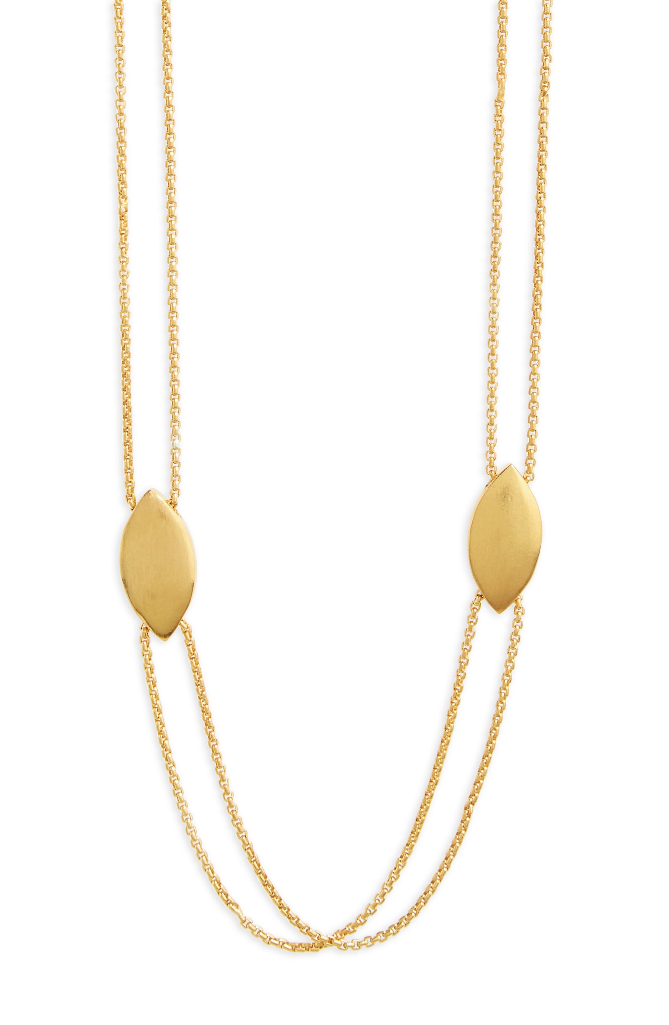 Taj Charm Necklace,                             Alternate thumbnail 2, color,                             Gold