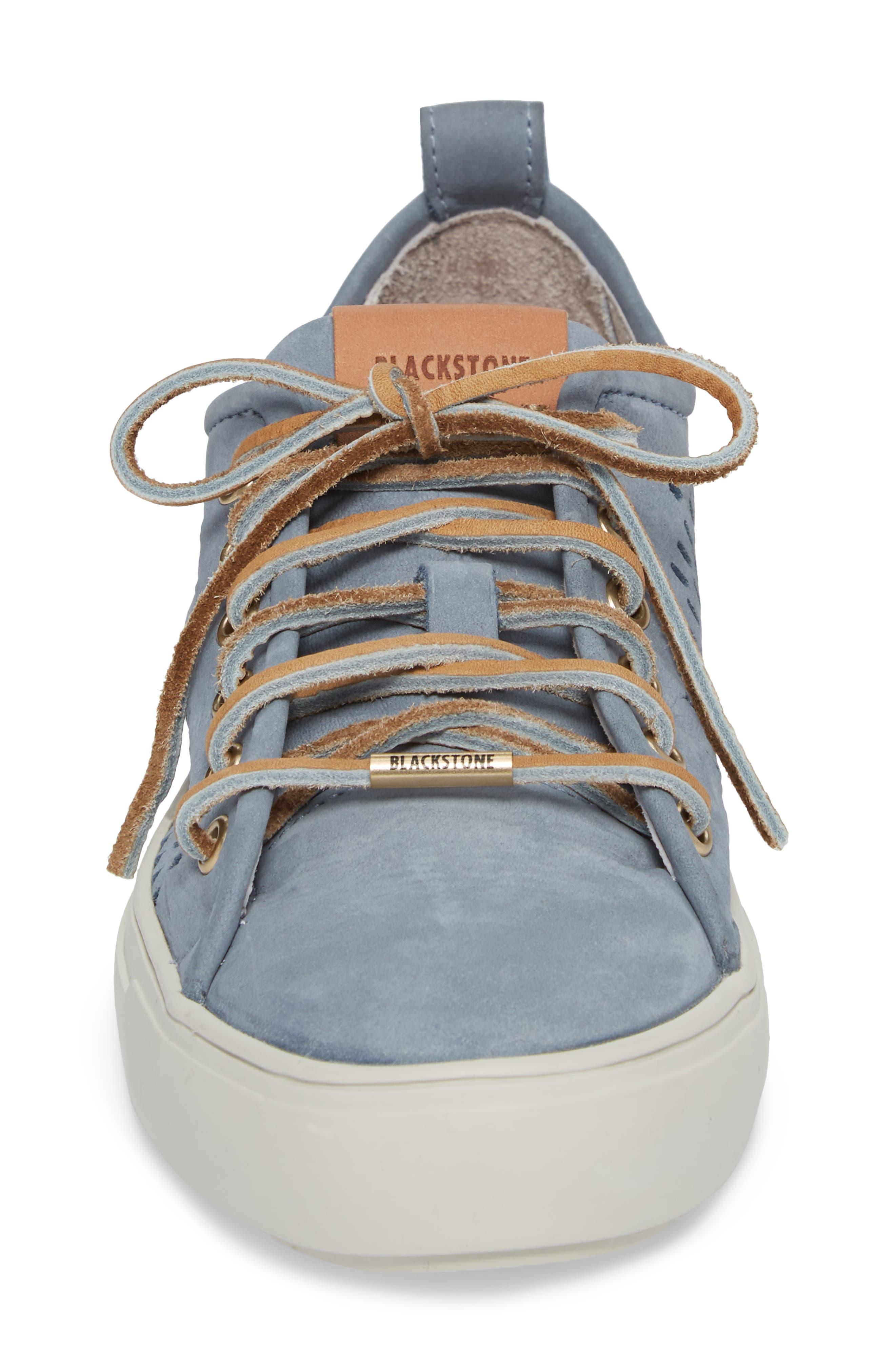 PL87 Sneaker,                             Alternate thumbnail 4, color,                             Winter Sky Leather