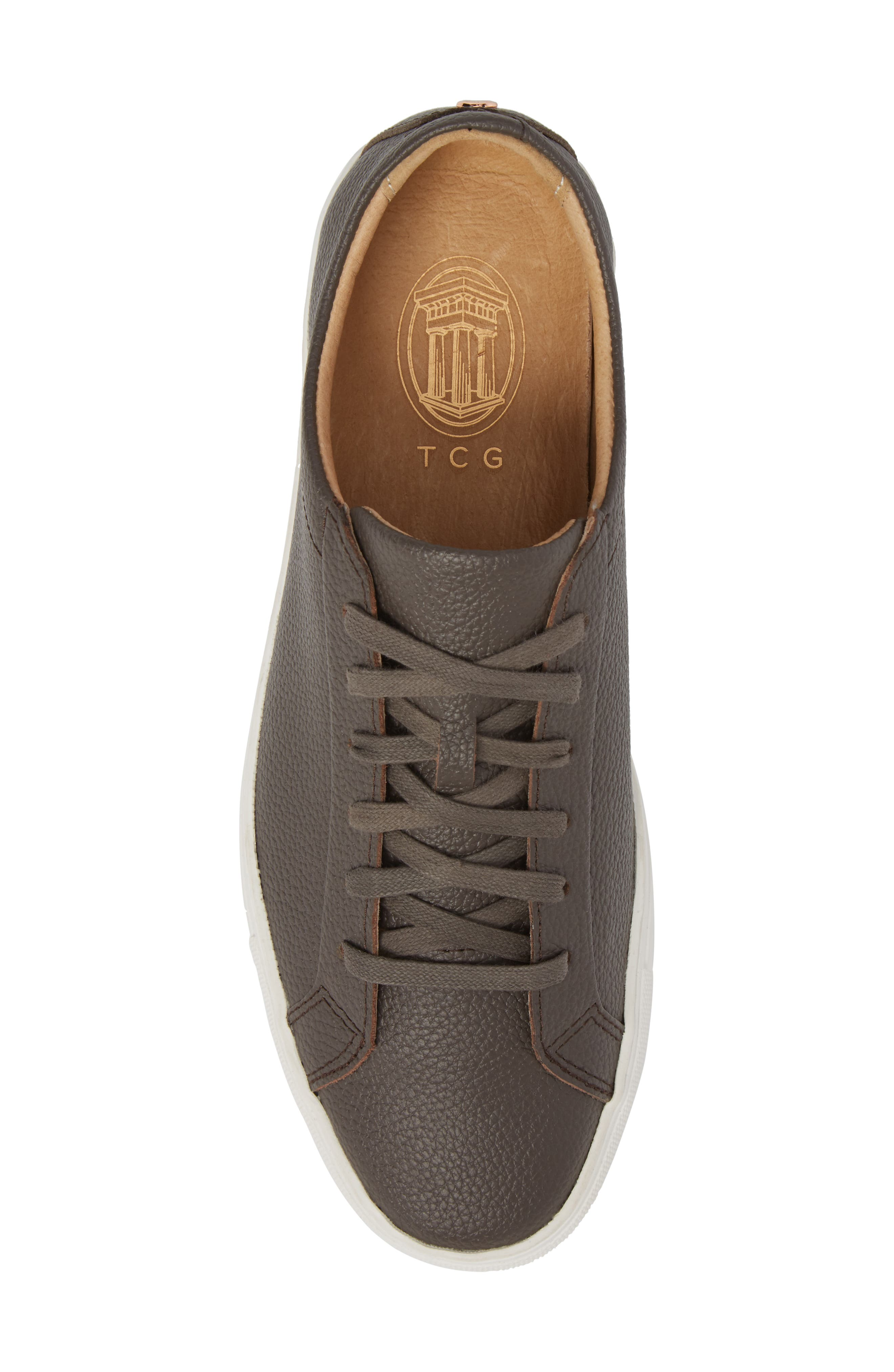 Kennedy Low Top Sneaker,                             Alternate thumbnail 5, color,                             Falcon Leather