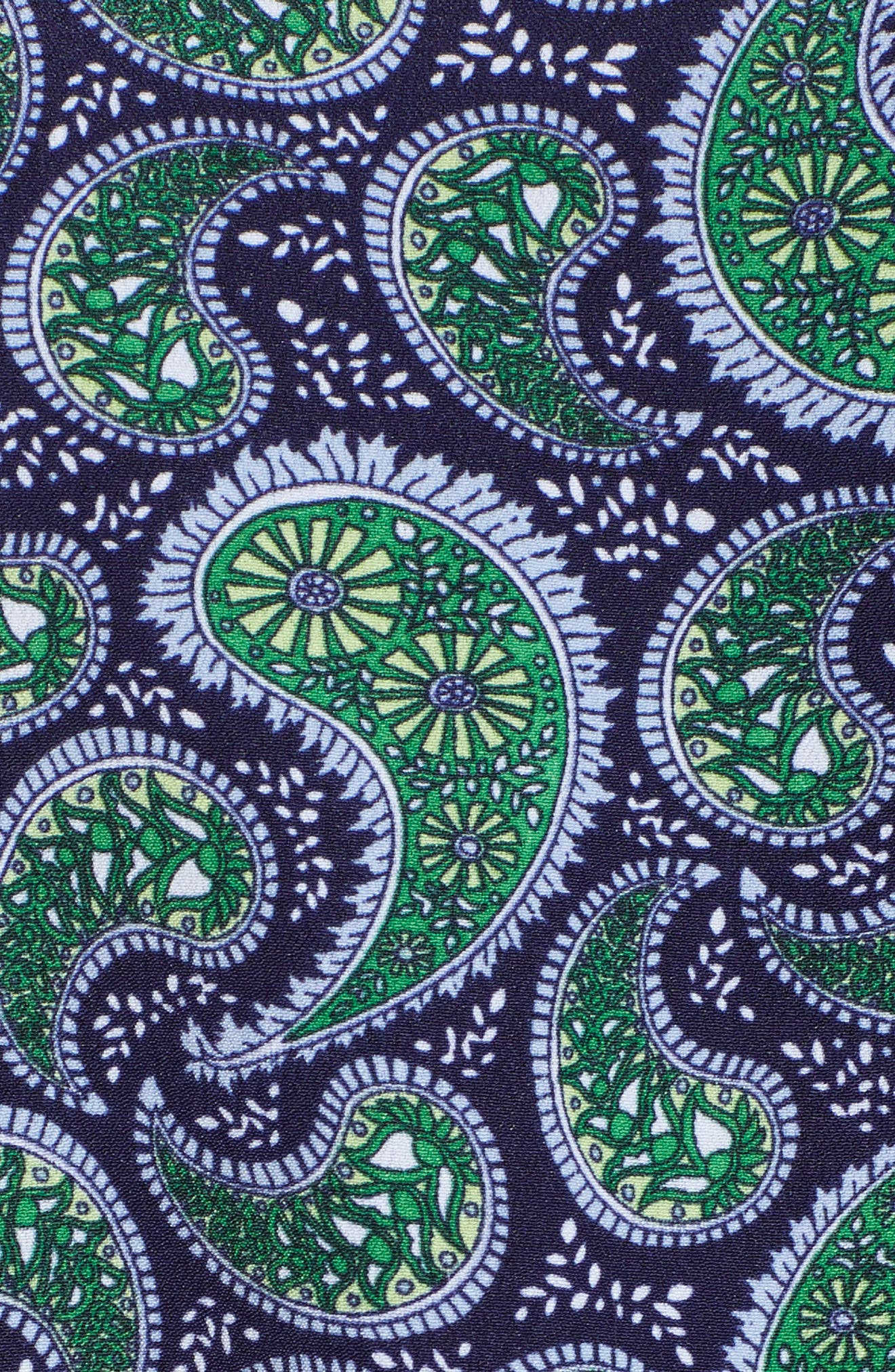 Kimono Sleeve Paisley Top,                             Alternate thumbnail 6, color,                             True Navy/Green Apple Mu