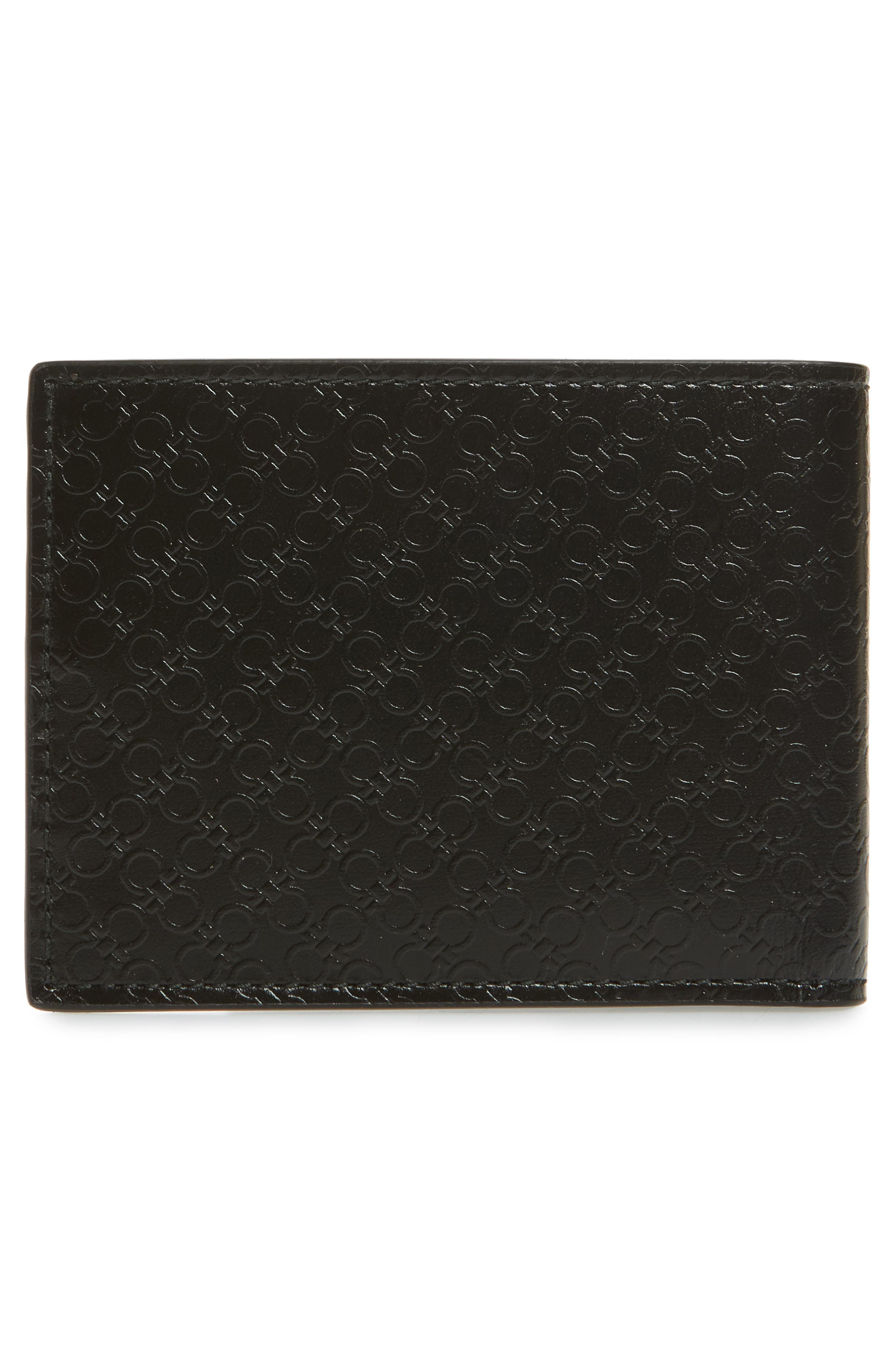 Alternate Image 2  - Salvatore Ferragamo Gancini Leather Card Case