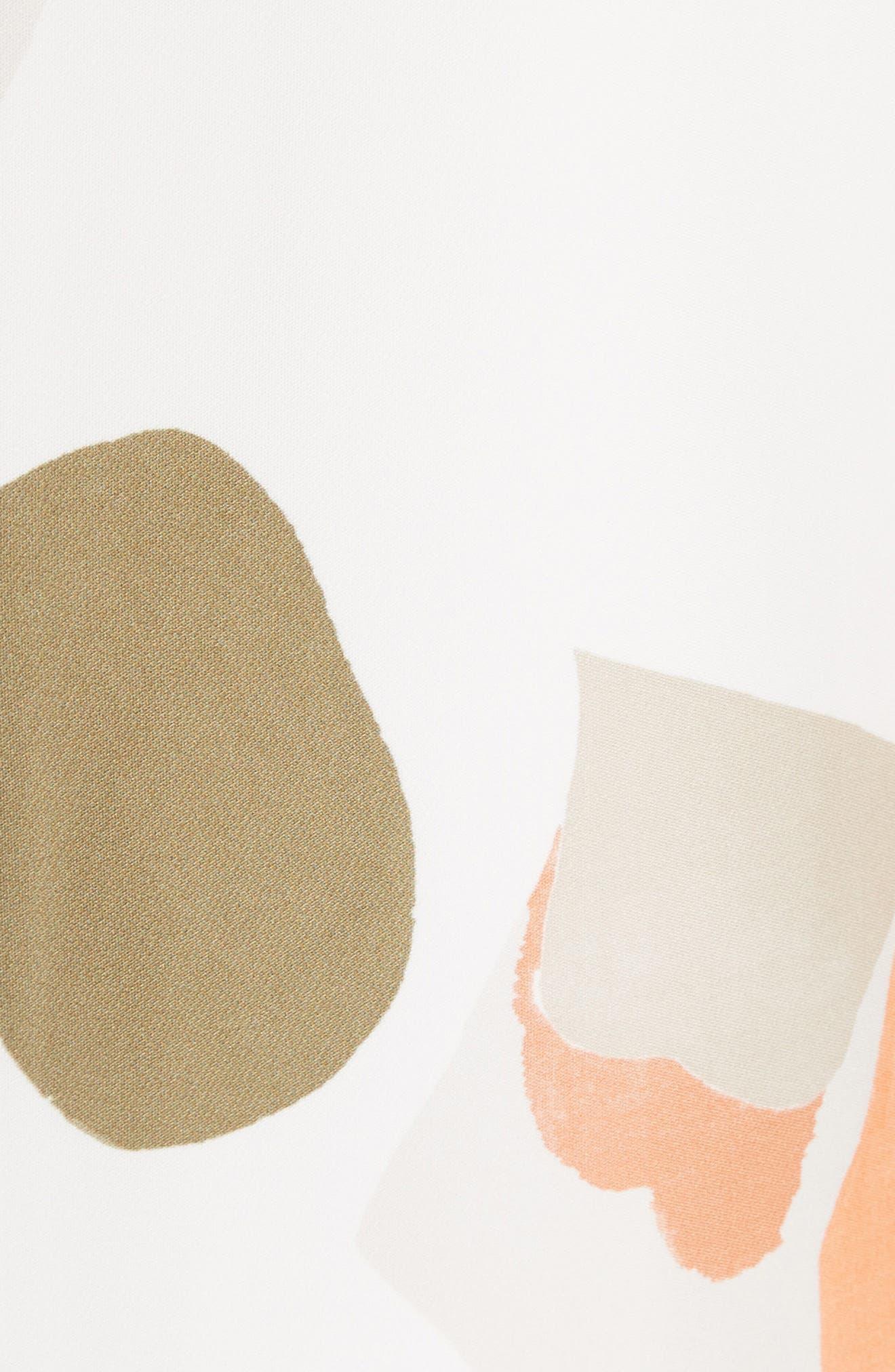 Landscape Expression Print Ruffle Dress,                             Alternate thumbnail 6, color,                             Cloud Multi