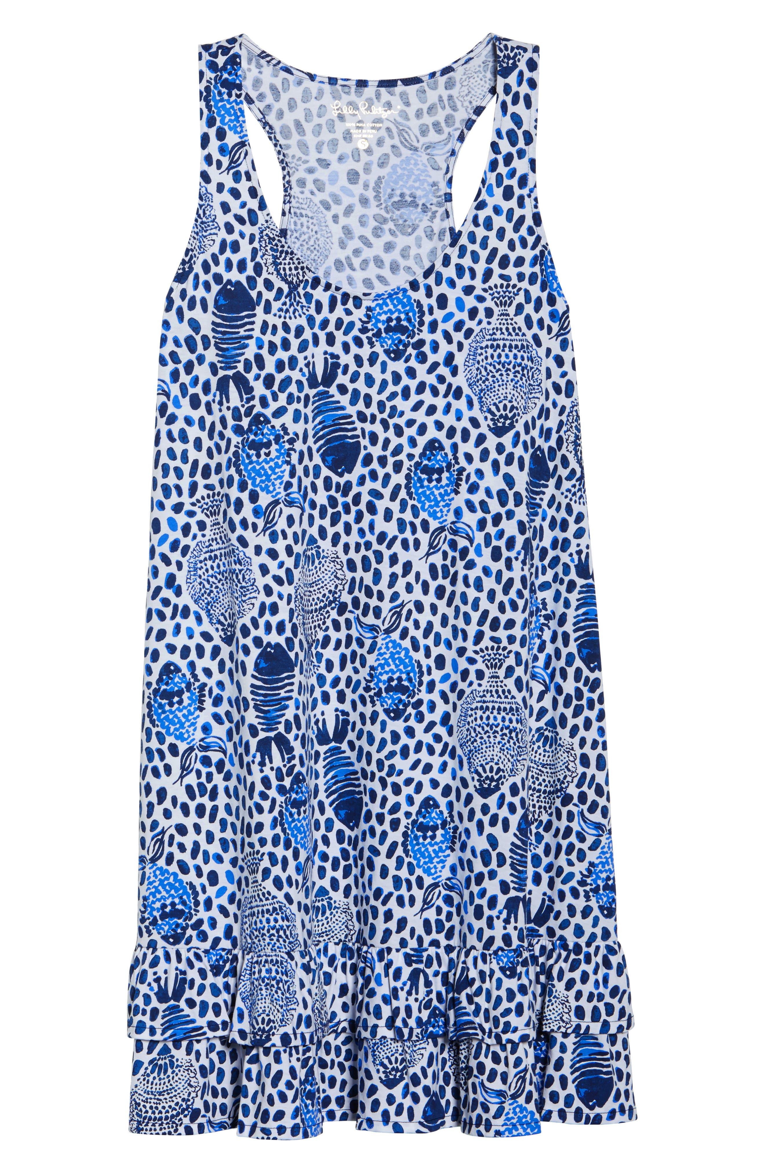Evangelia Sleeveless Racerback Dress,                             Alternate thumbnail 6, color,                             High Tide Heart And Sole