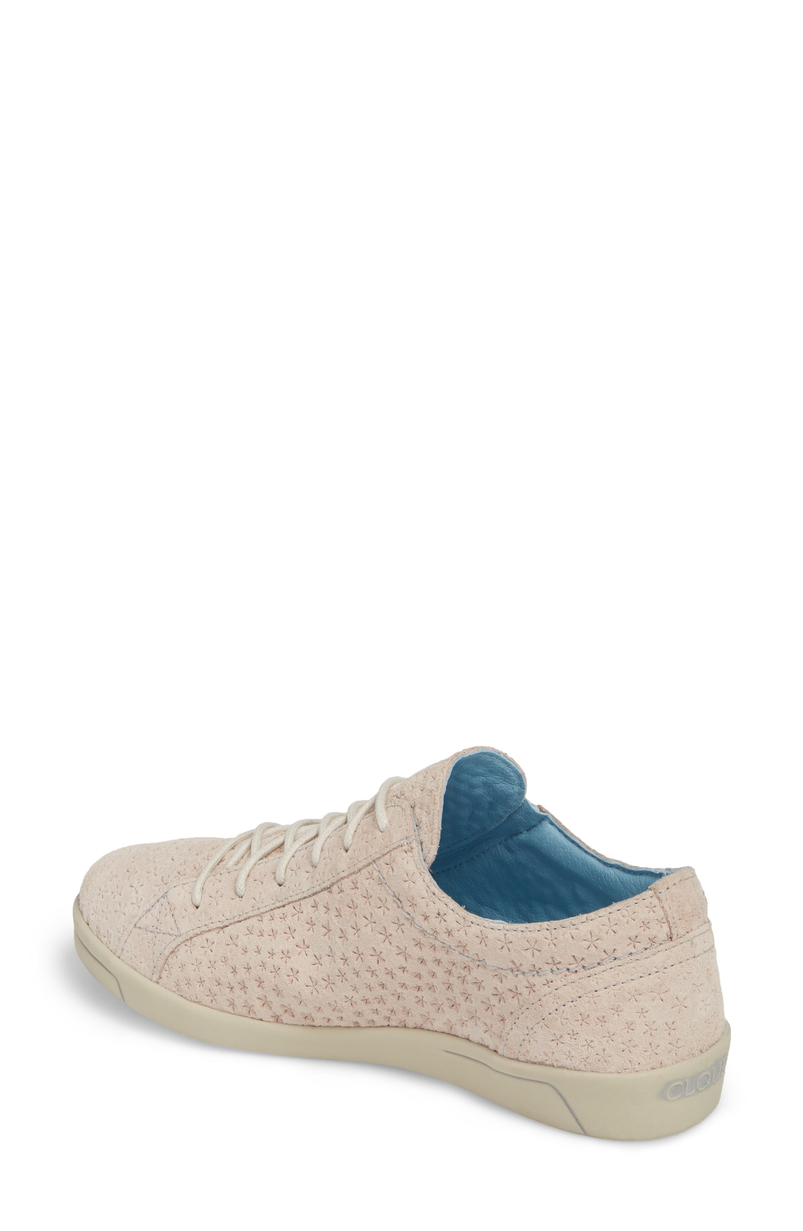 Aika Star Perforated Sneaker,                             Alternate thumbnail 2, color,                             Light Pink Leather