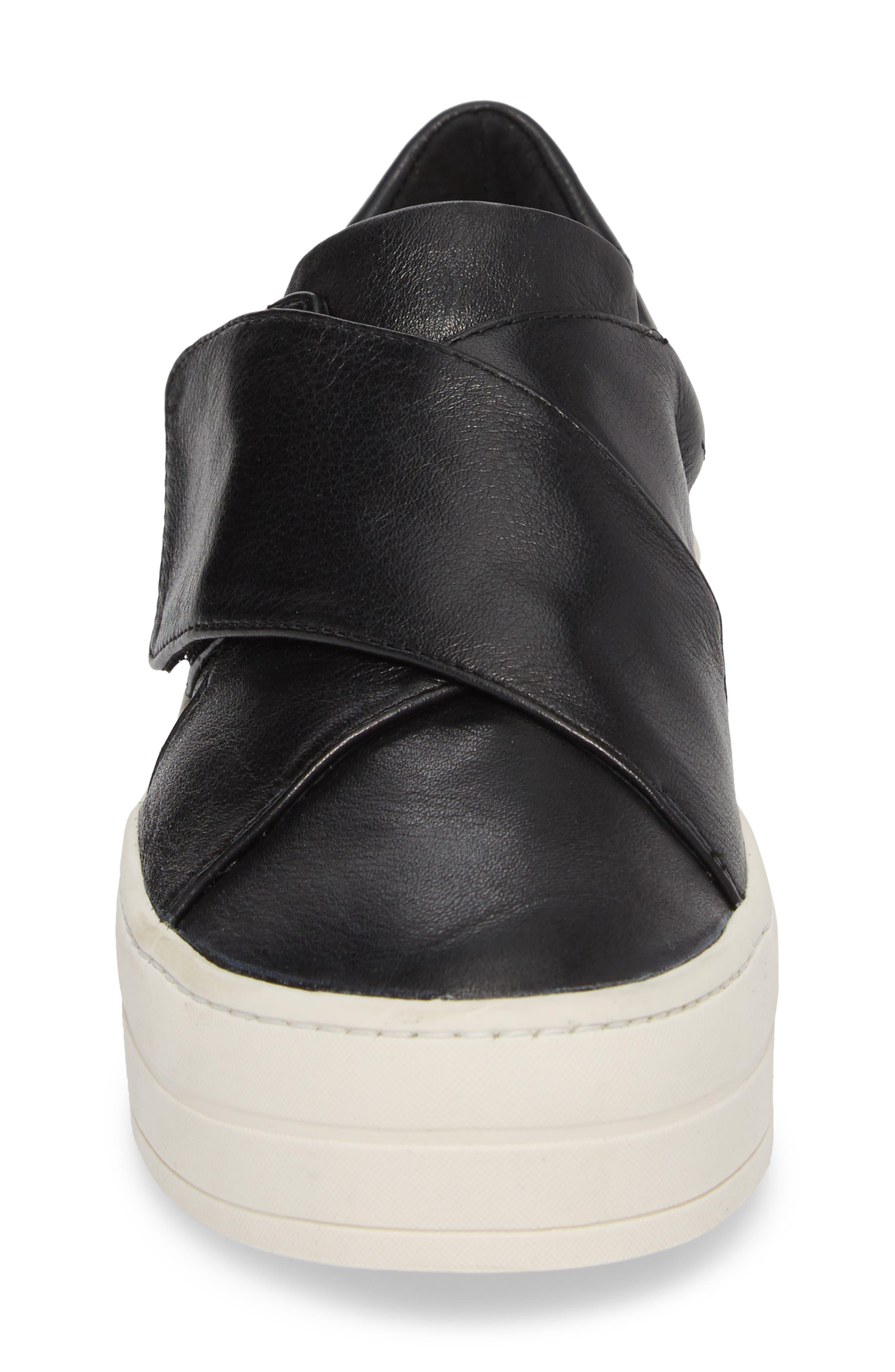 Harper Sneaker,                             Alternate thumbnail 4, color,                             Black Leather