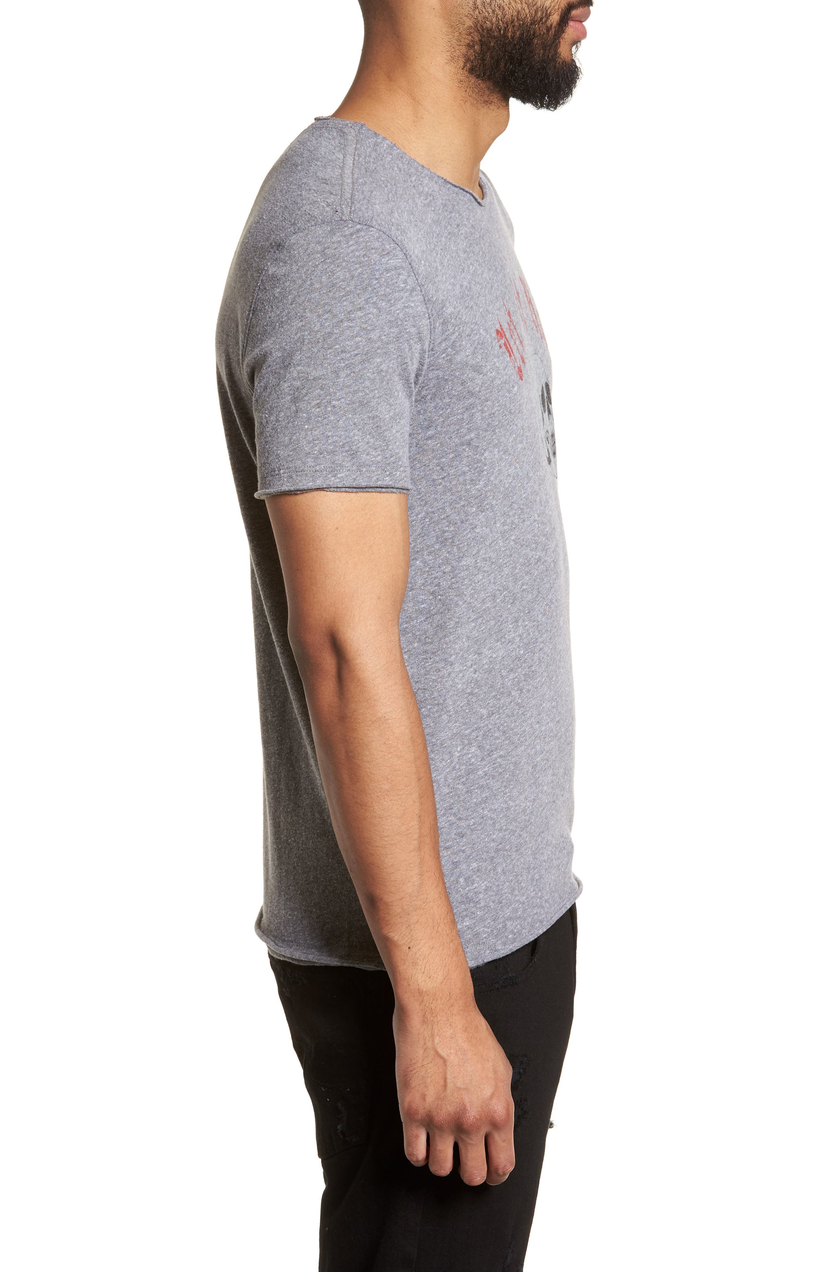 Let It Rock Regular Fit T-Shirt,                             Alternate thumbnail 3, color,                             Hematite